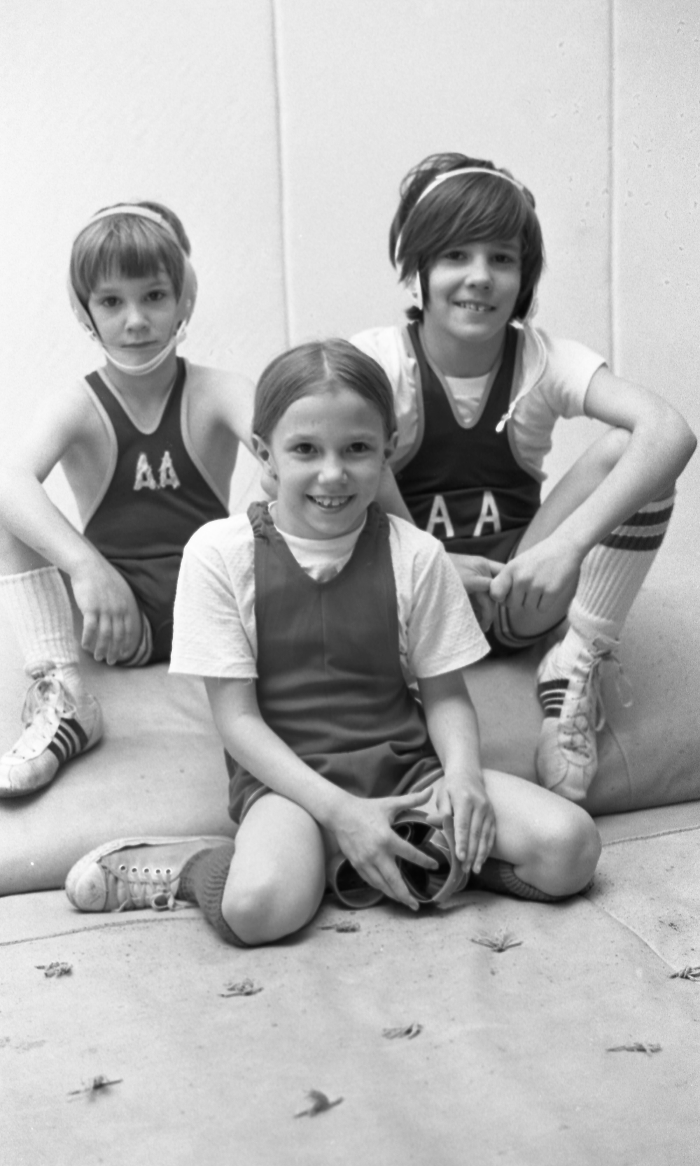 A Wrestling Family - Siblings Andrew, Tricia, & Jamie McNaughton, May 1975 image