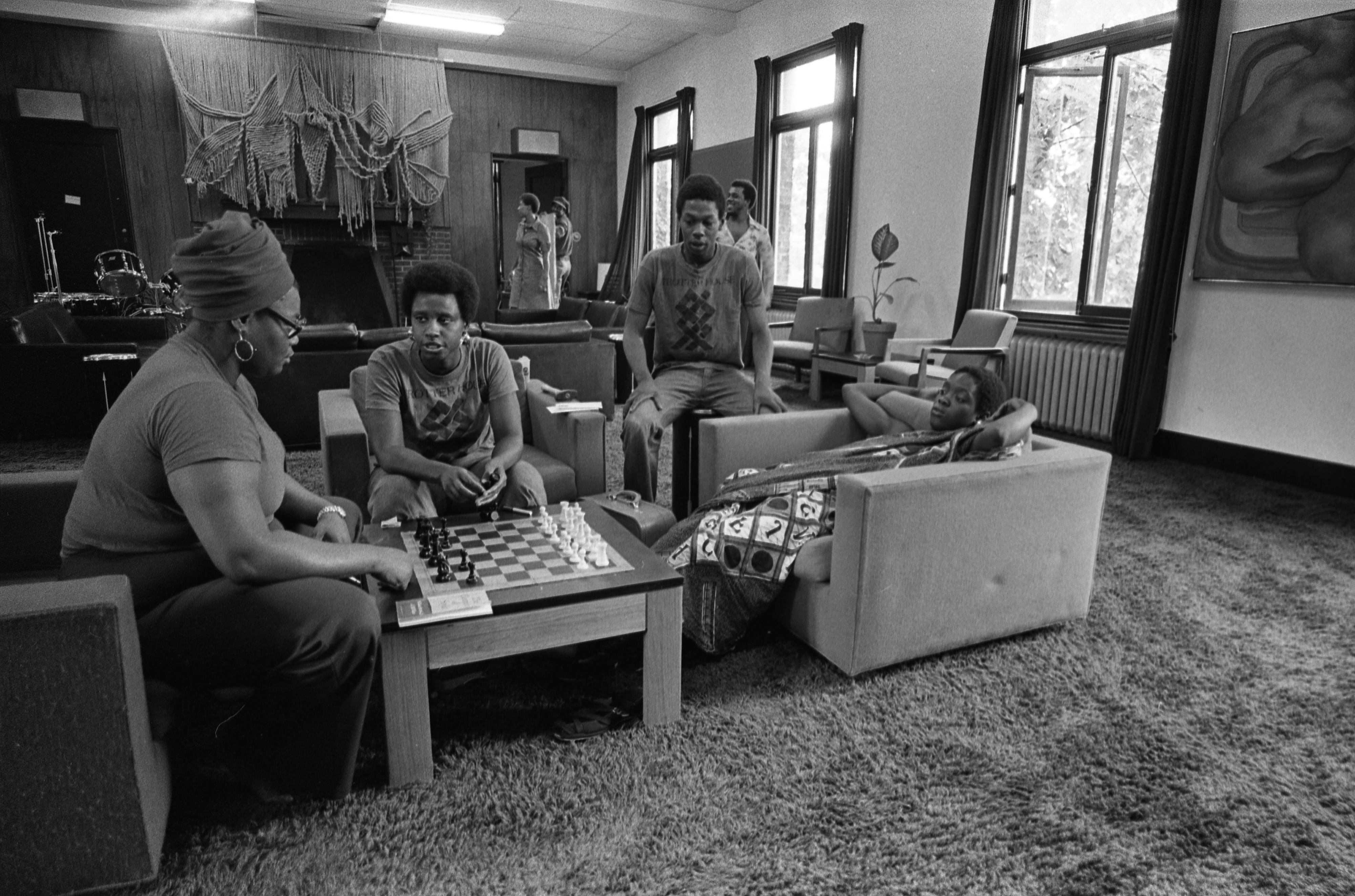 Students Enjoy A Game Of Chess At The Trotter House, September 10, 1975 image