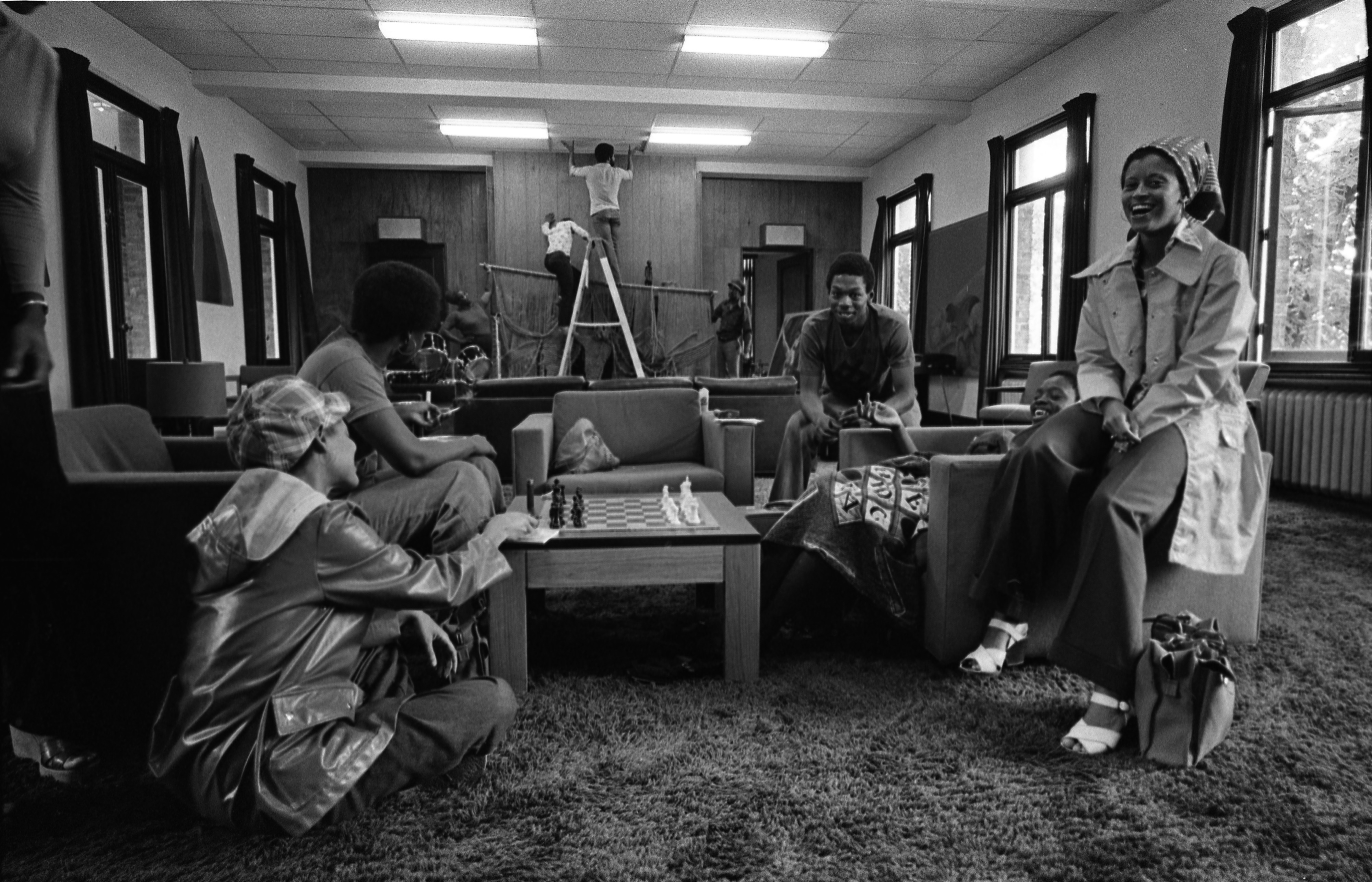 Students At The Trotter House, September 10, 1975 image