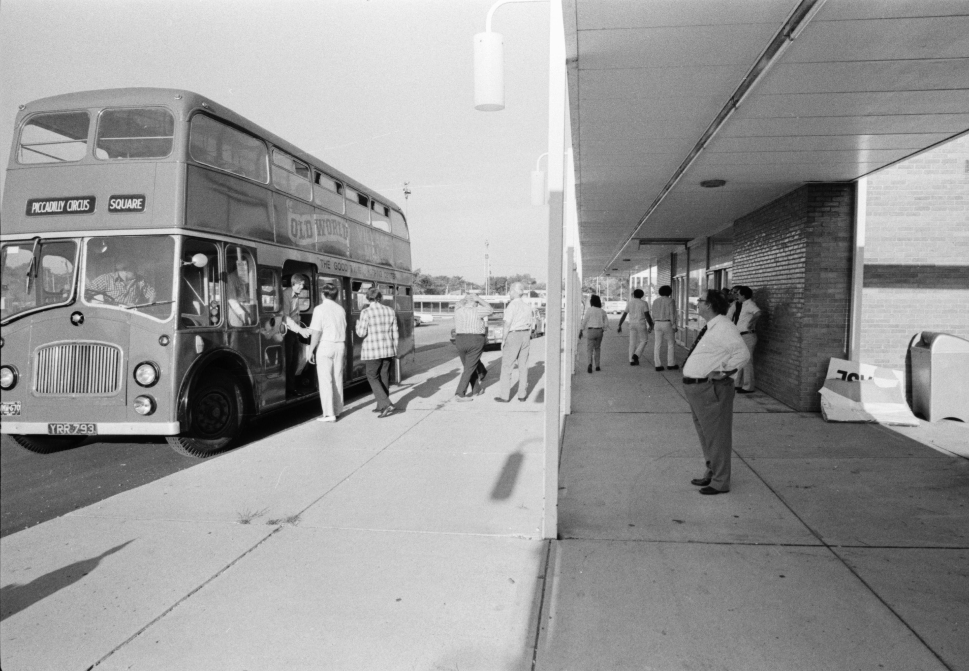 Old World Village Mall's double-decker bus, September 1975 image