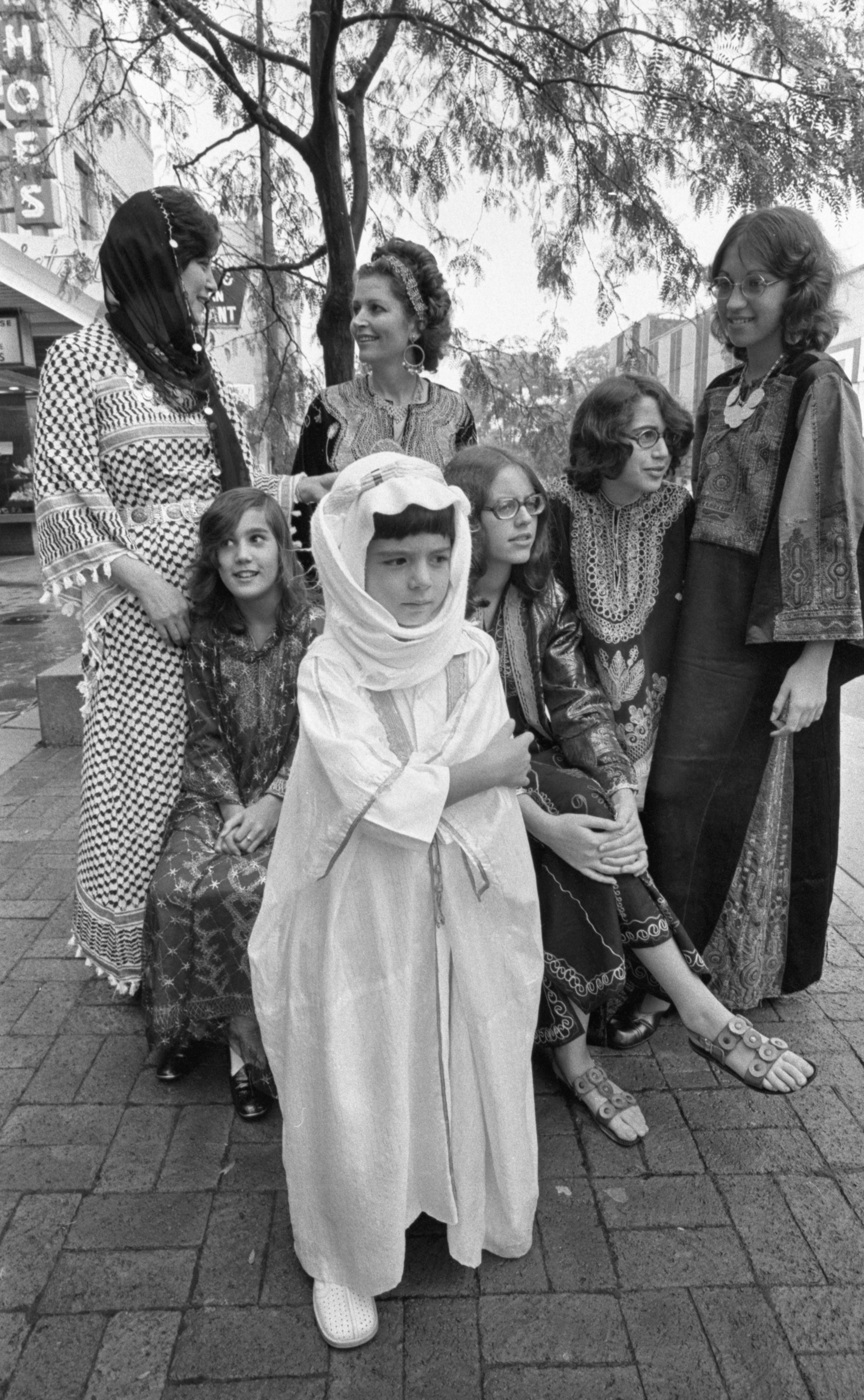 Variations Of Dress From The Arab World At The Ann Arbor Ethnic Fair, September 1975 image