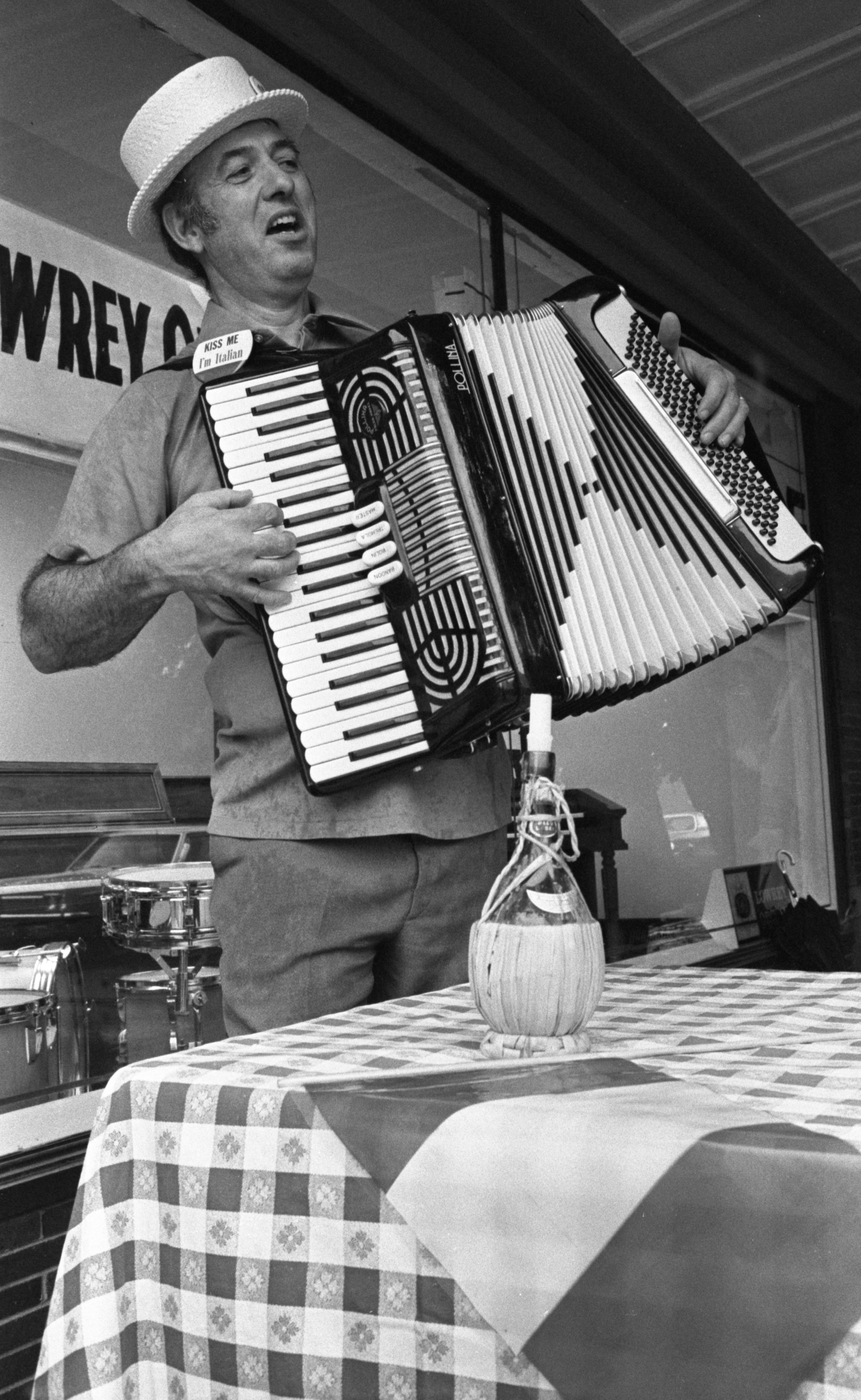 Al Galardi Plays His Accordion For The Italian Booth At The Ann Arbor Ethnic Fair, September 1975 image