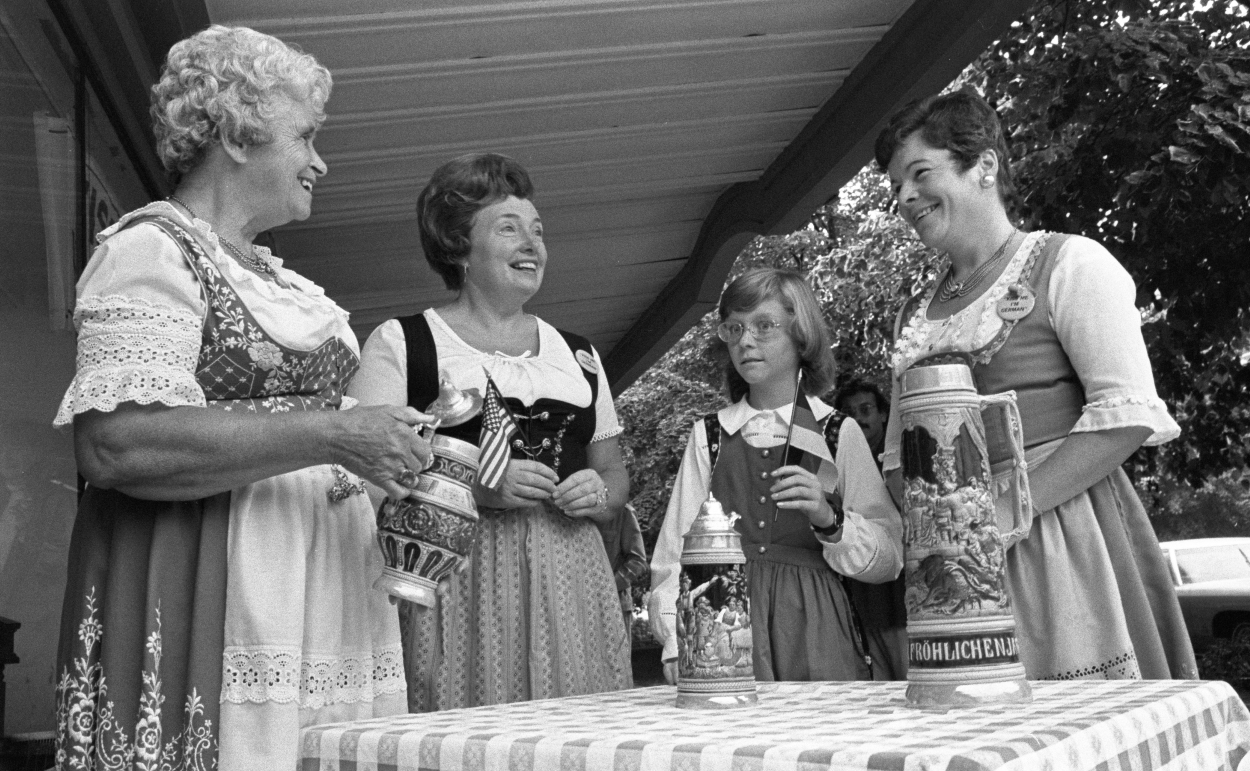 Women Prepare The German Gift Table For The Ann Arbor Ethnic Fair, September 1975 image