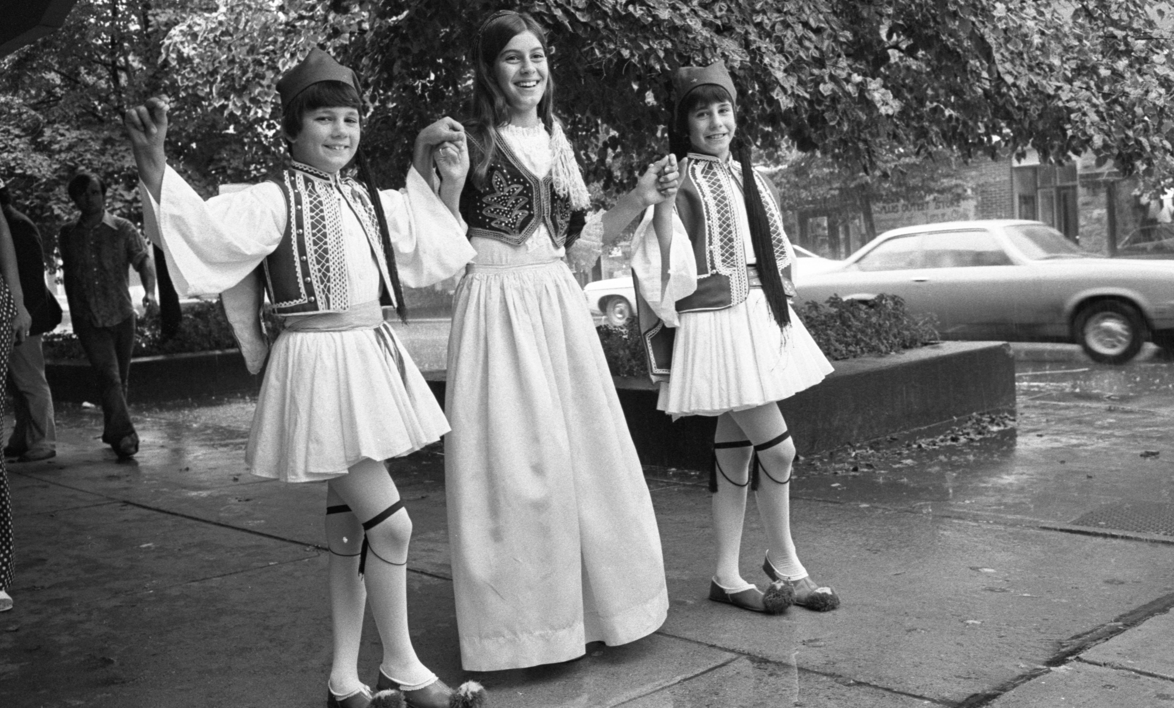 Hellenic Community Dancers Prepare For The Ann Arbor Ethnic Fair, September 1975 image