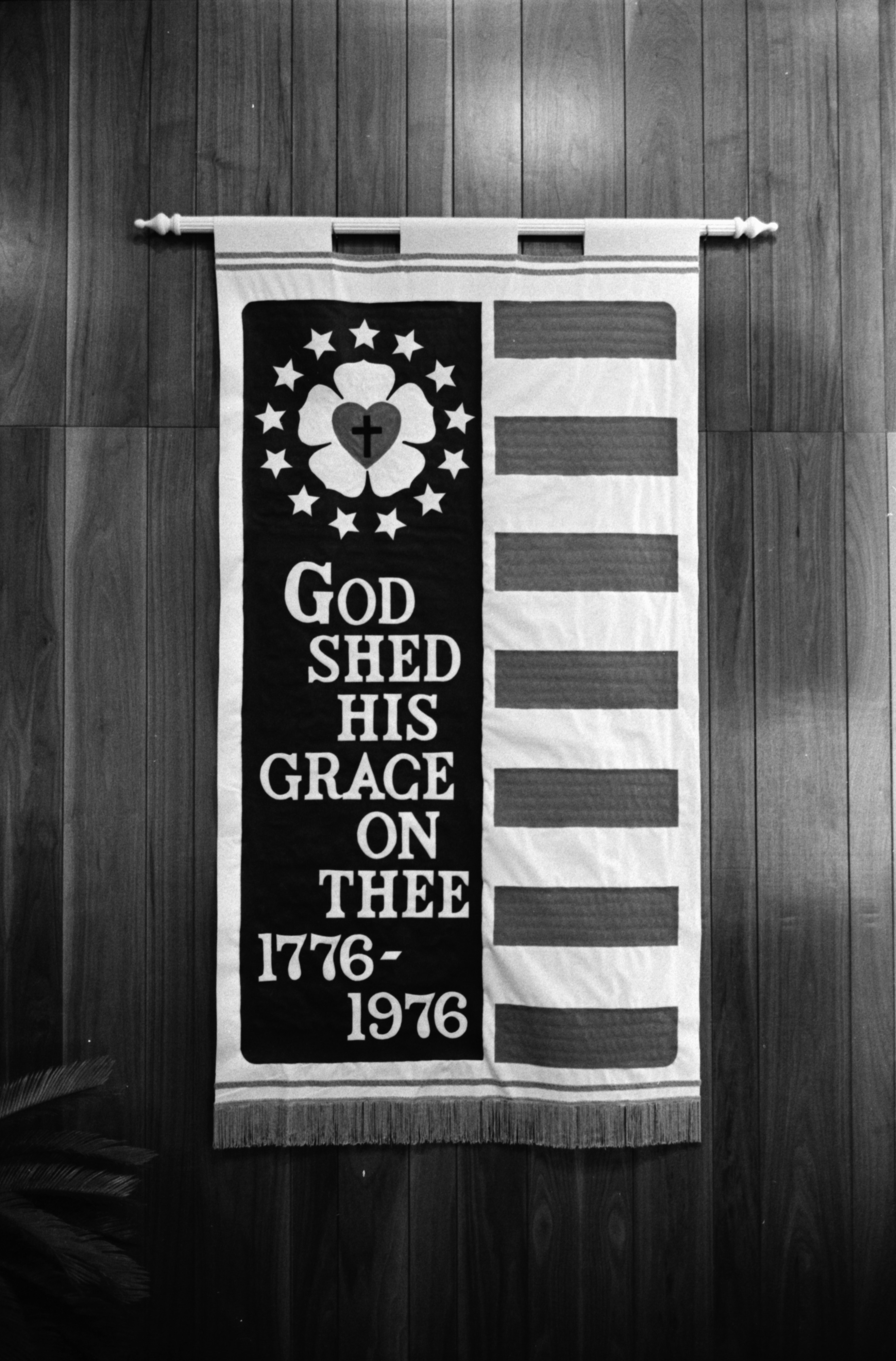 Bicentennial Banner at Darlington Lutheran Church, February 1976 image