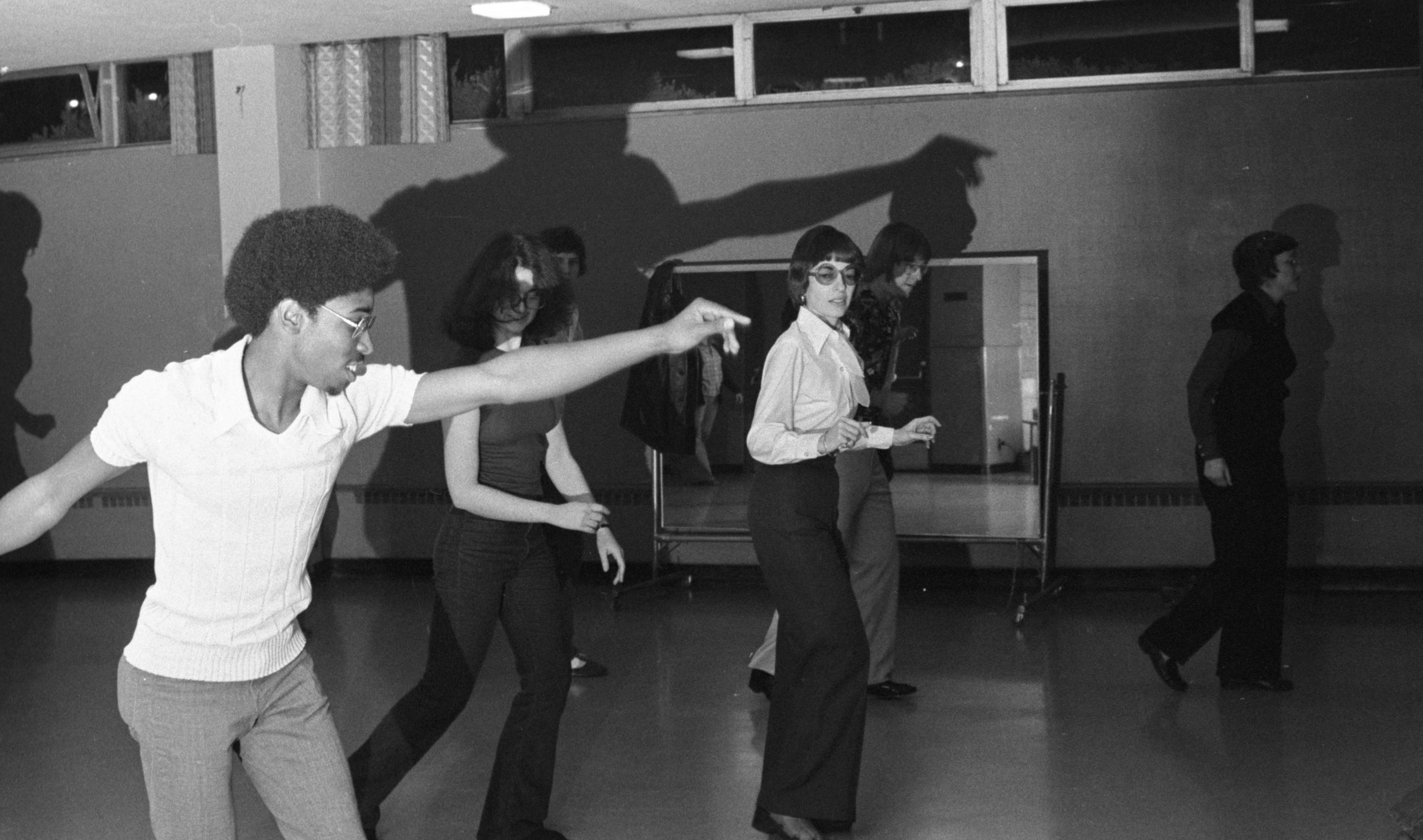 Dorian Deaver Leads A Disco Class At The Ann Arbor Y, November 1976 image