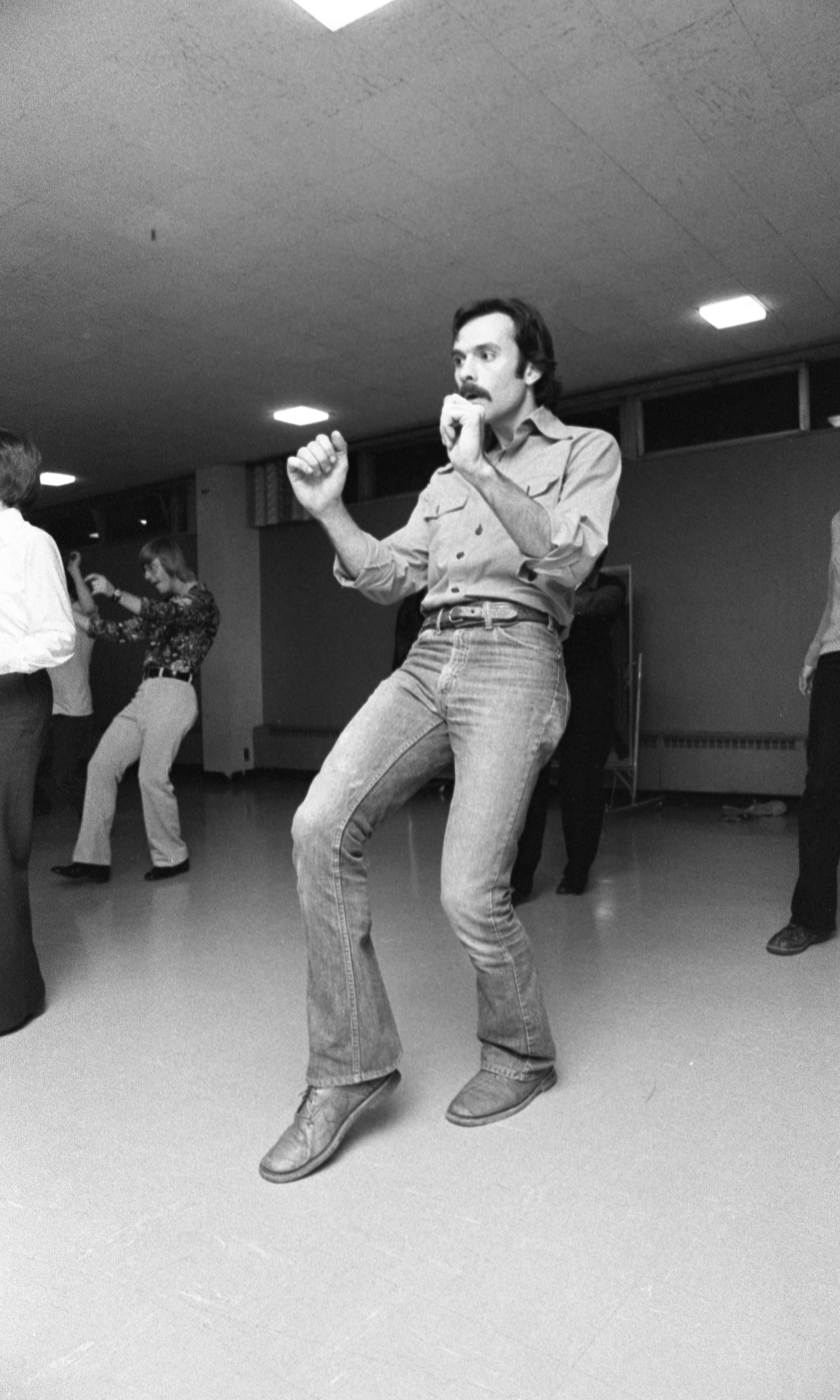 Adult Students Practice Their Moves In A Disco Class At The Ann Arbor Y, November 1976 image