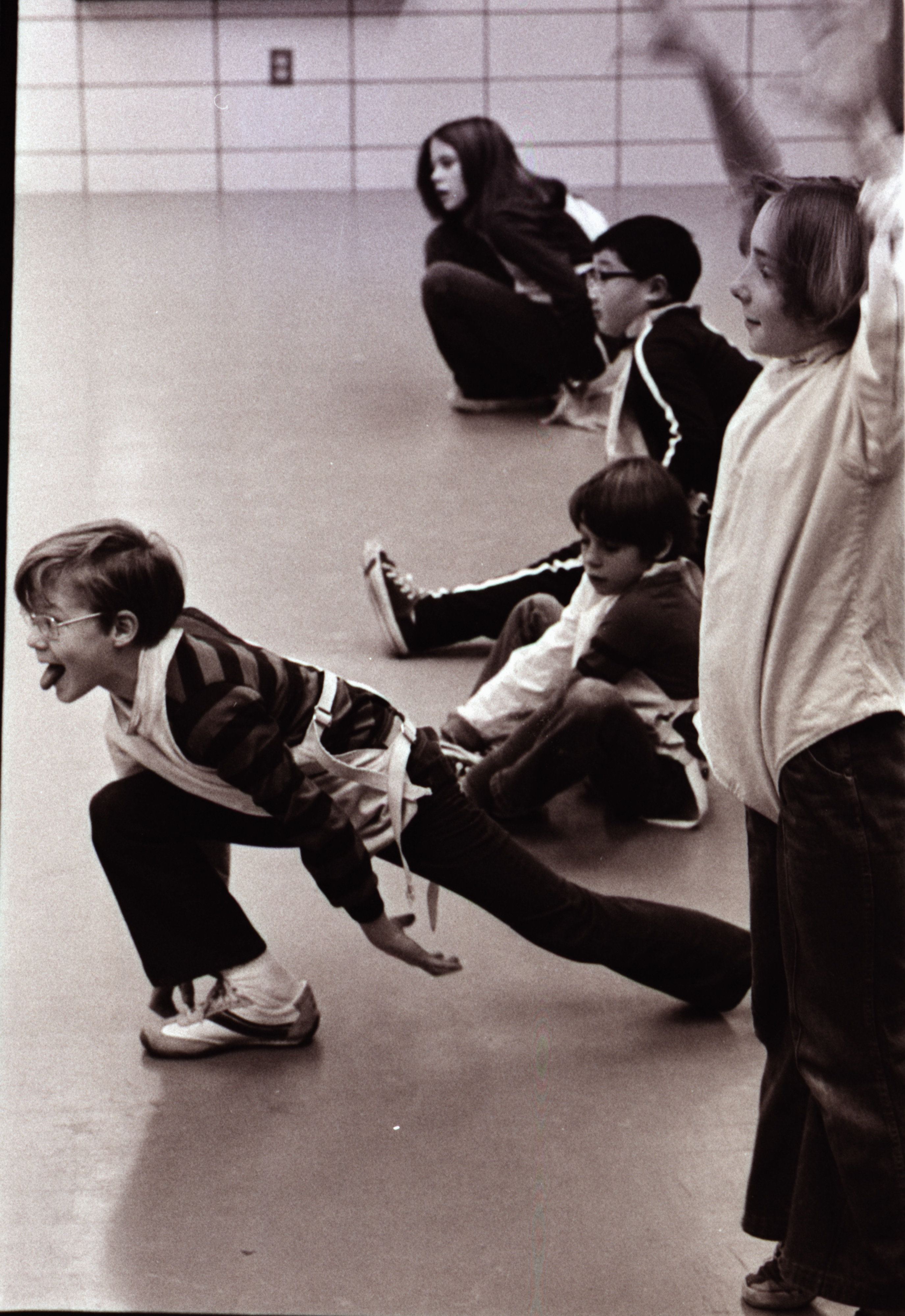 Students in Fencing Class, Ann Arbor Y, December 1976 image