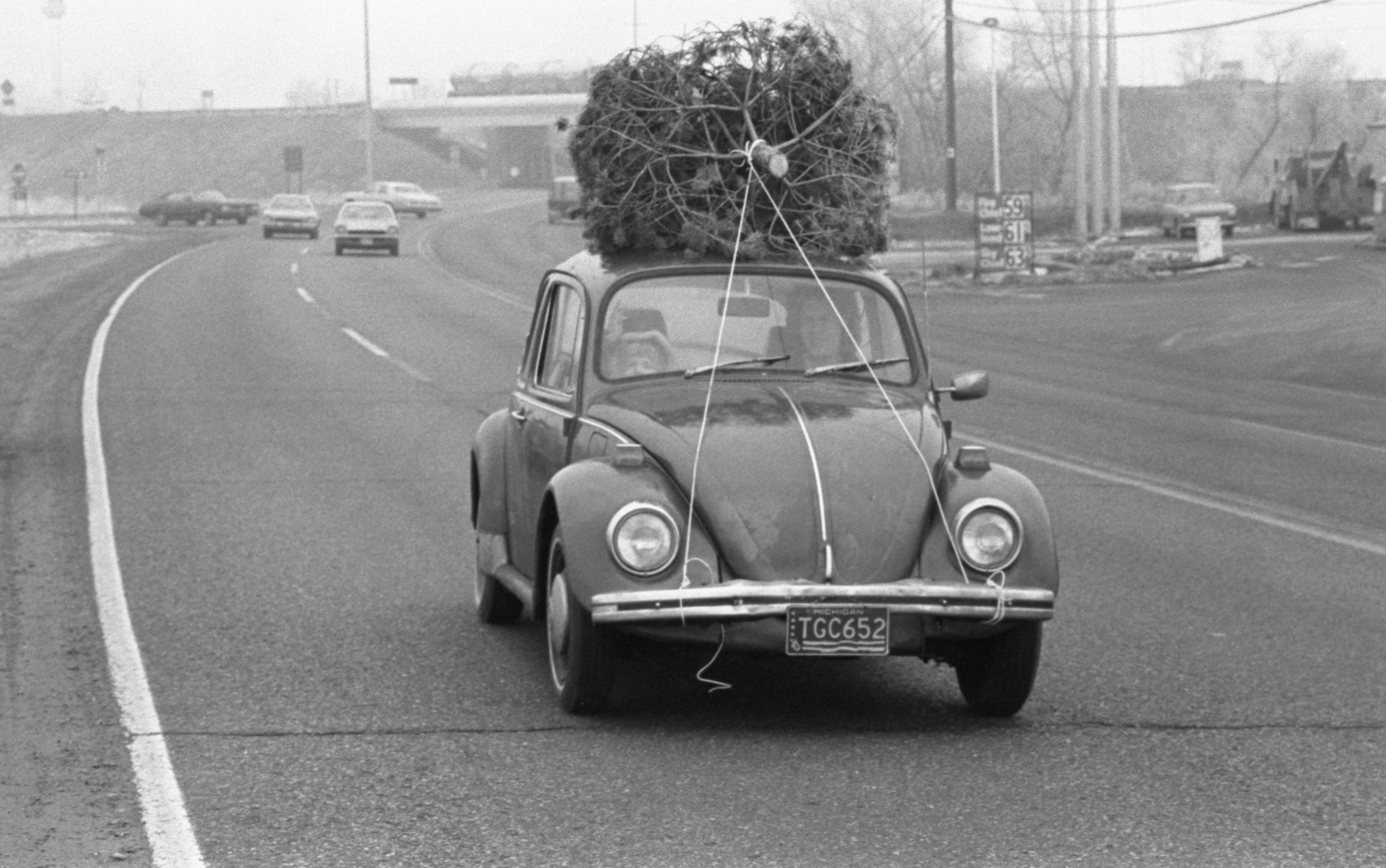 Christmas Tree Atop A Volkswagen, December 1976 image