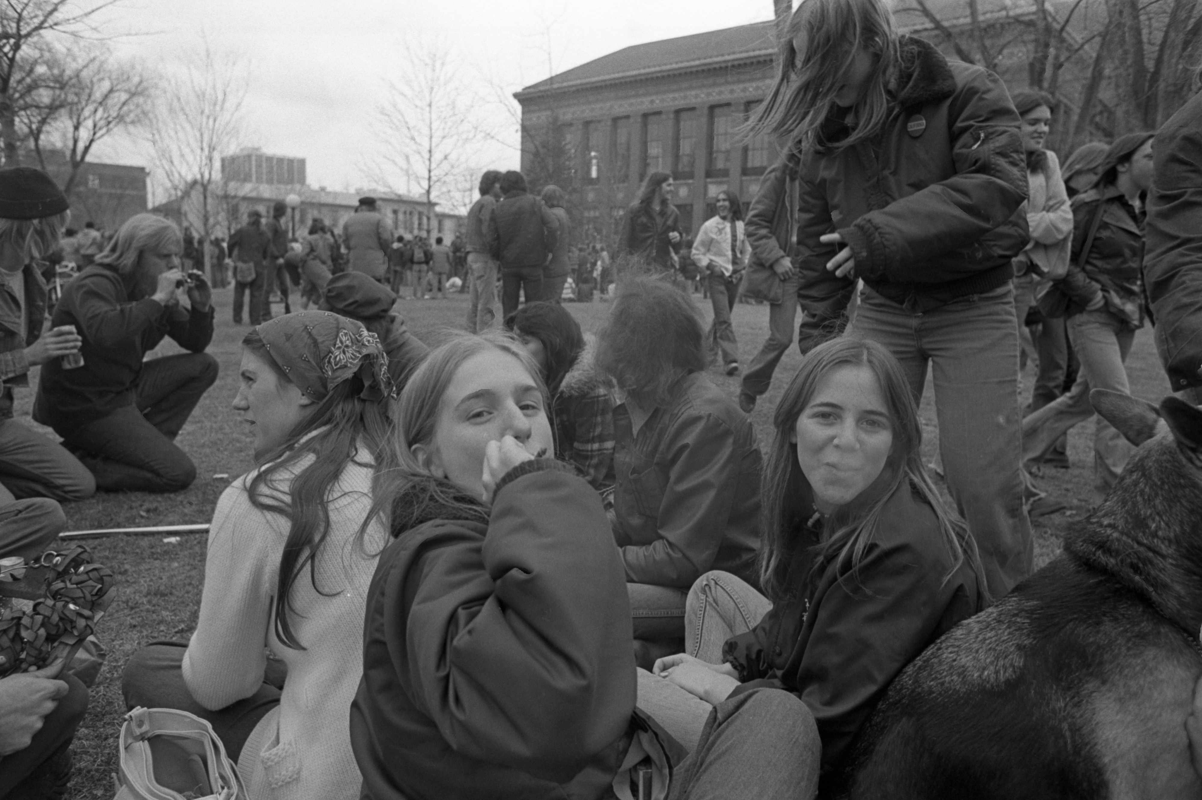 Passing A Joint On The Diag At Hash Bash, April 2, 1977 image
