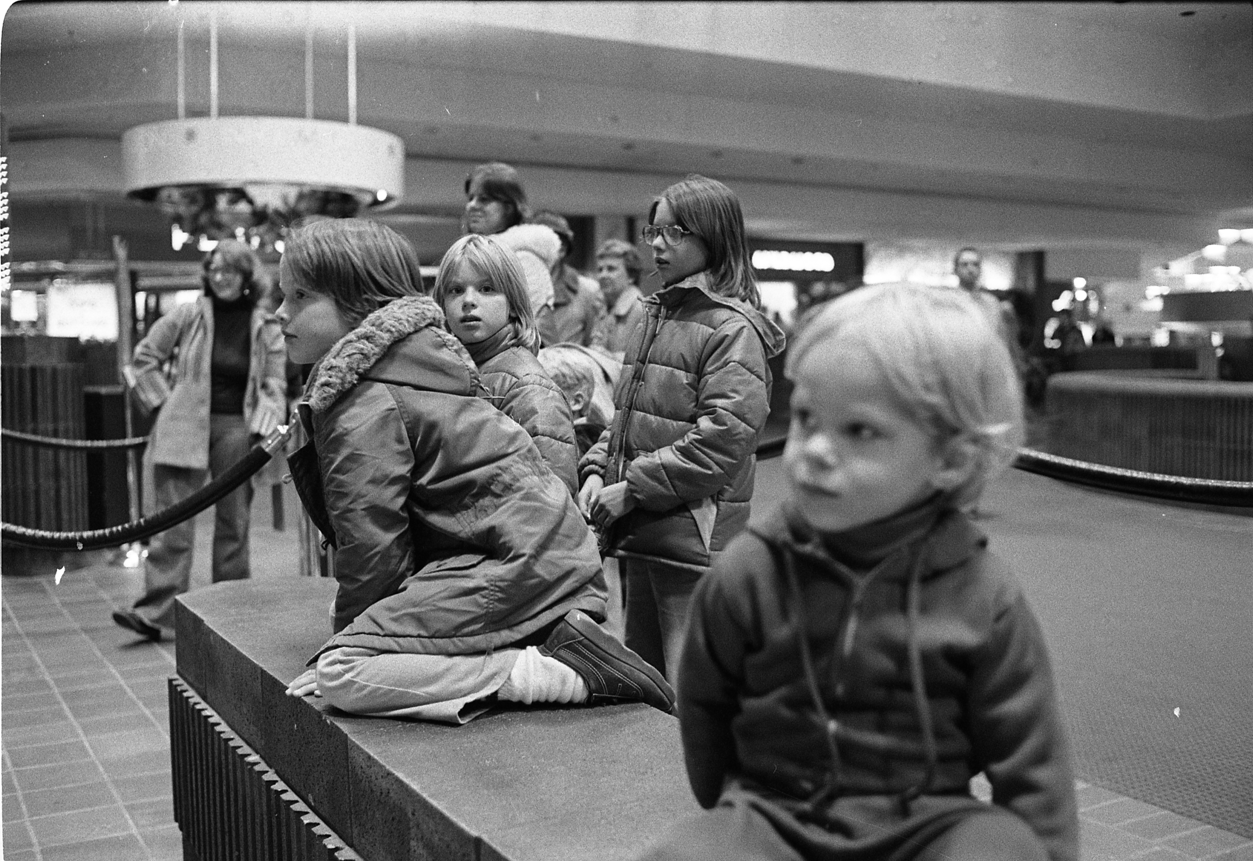 Children Await Santa's Arrival At Briarwood Mall, December 4, 1977 image