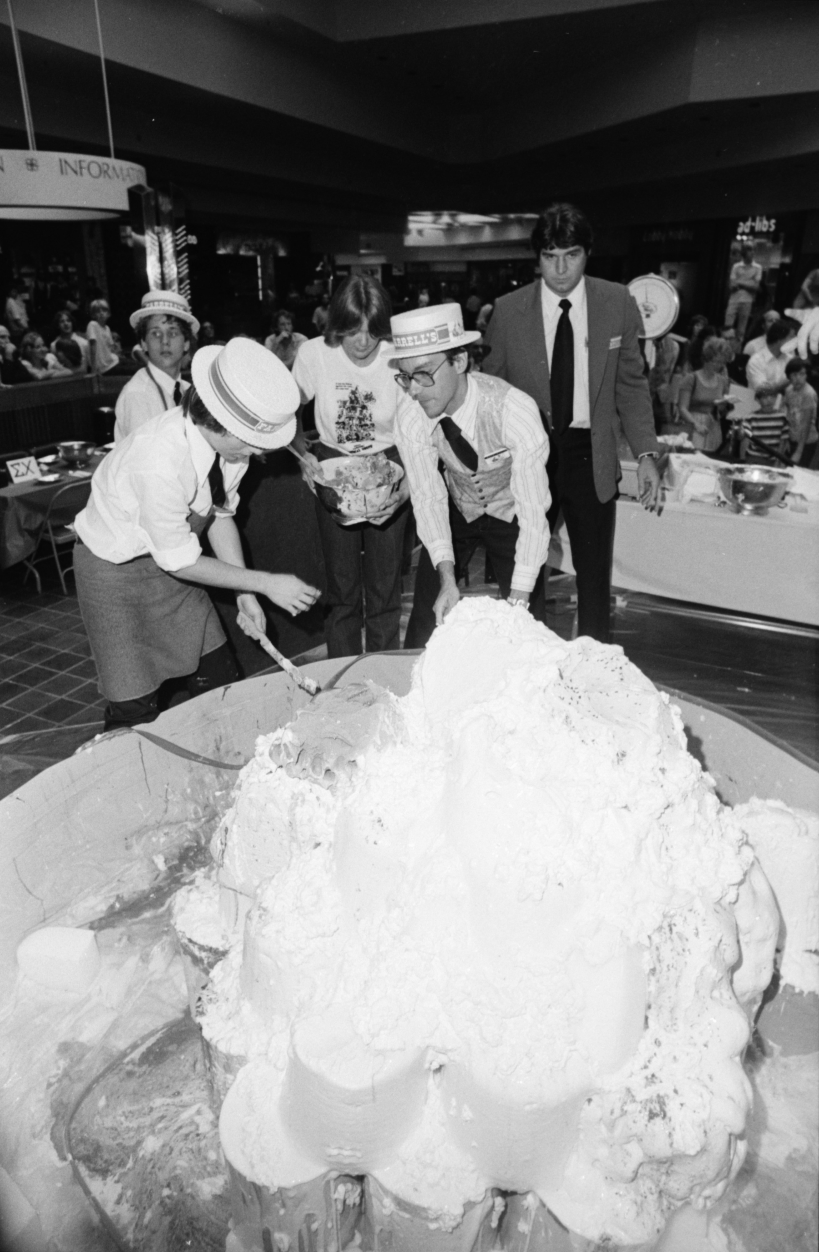 Ice Cream Eating Contest at Briarwood Mall, September 1978 image