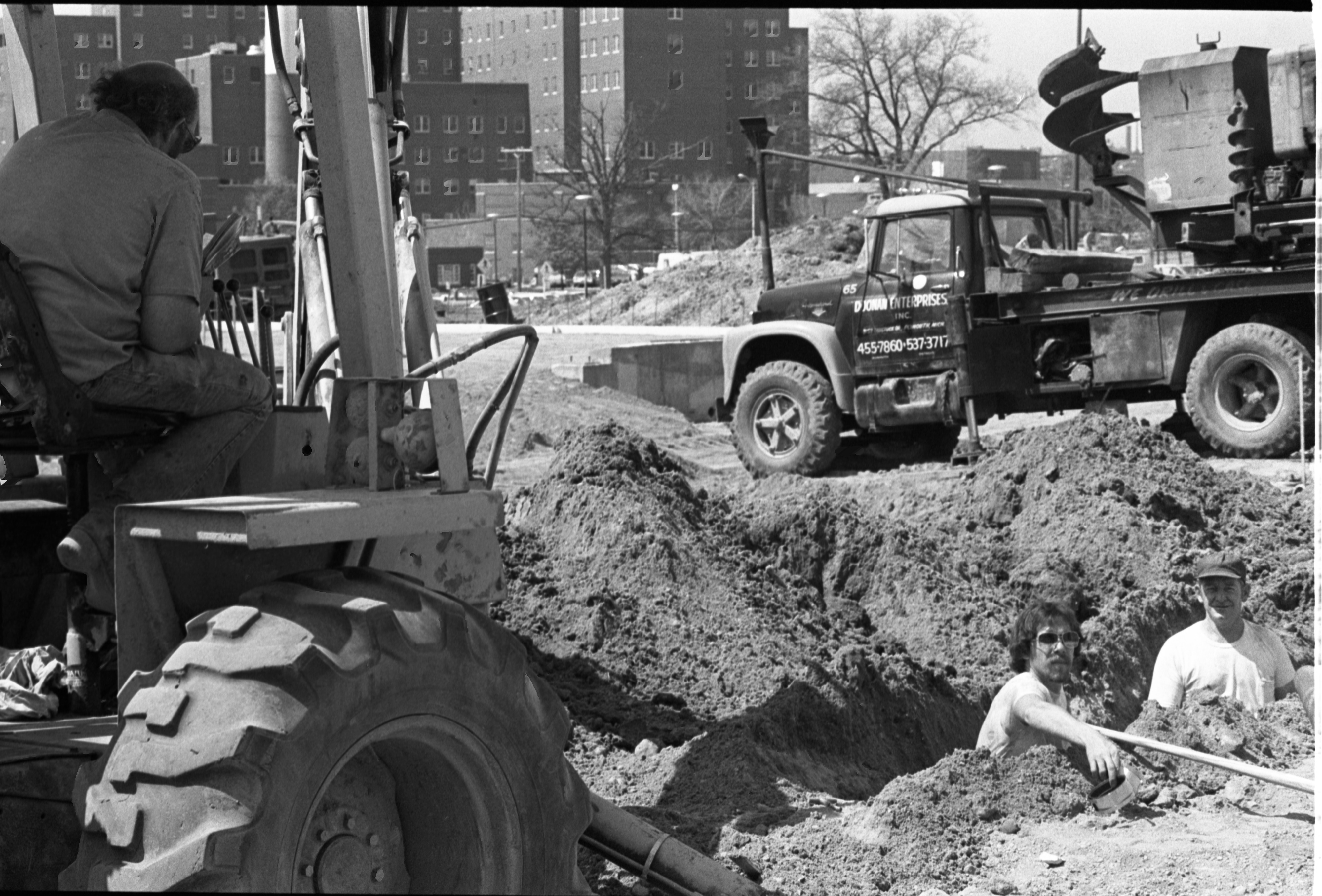 Construction Workers Dig Up Grounds For The Gerald R. Ford Presidential Library, May 11, 1979 image