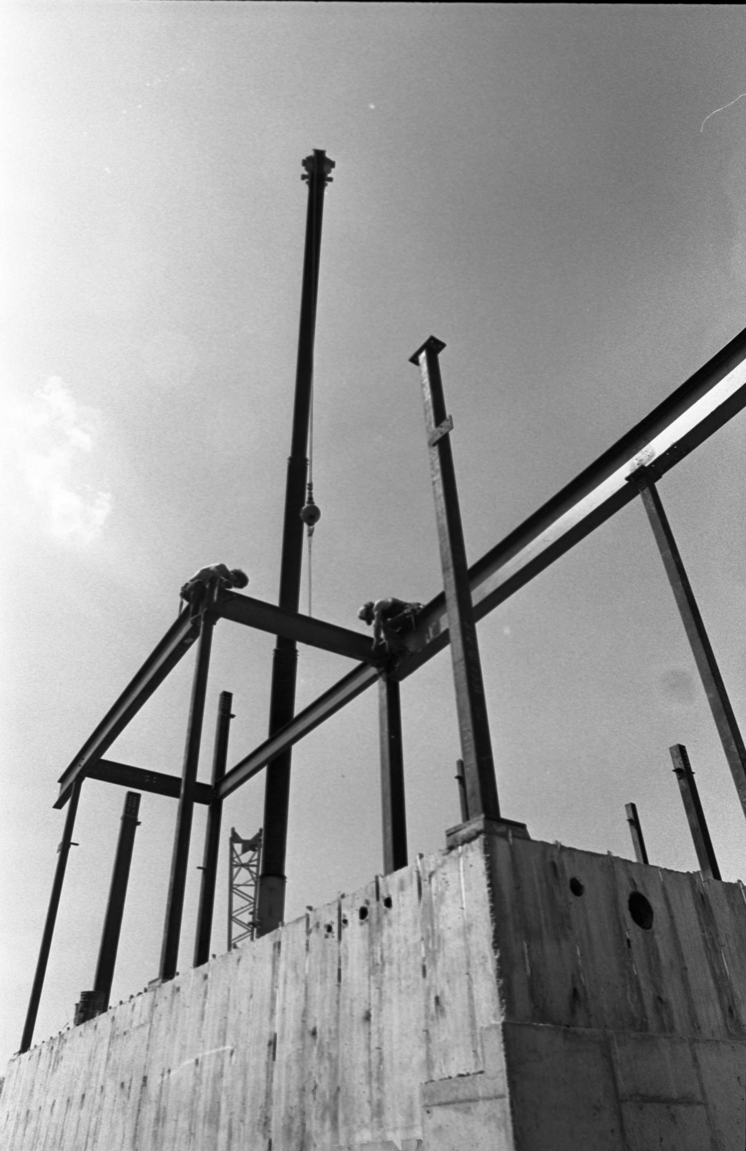 Construction Workers On Steel Beams For The Gerald R. Ford Presidential Library, May 11, 1979 image