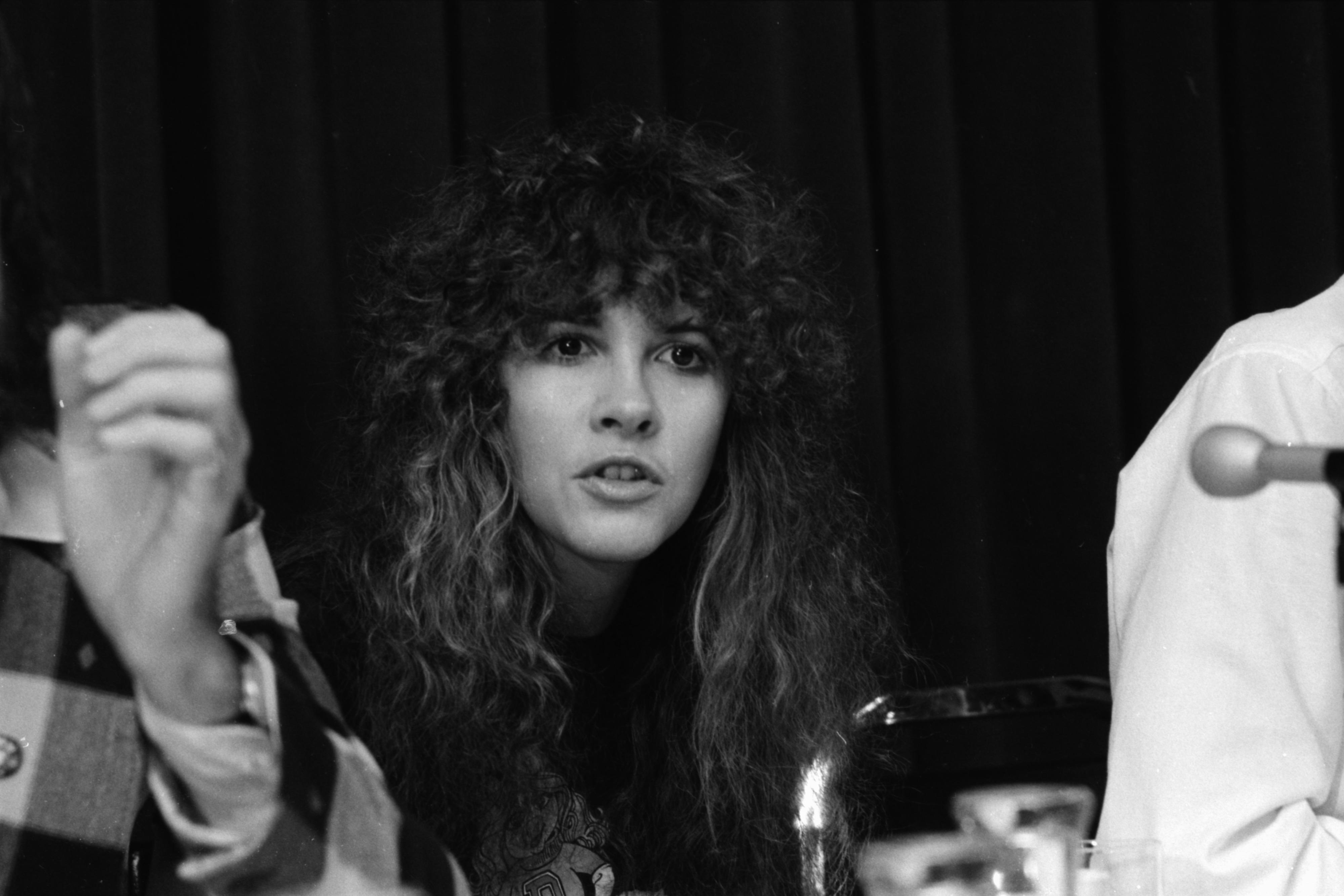 stevie nicks at ann arbor press conference tusk tour november 1979