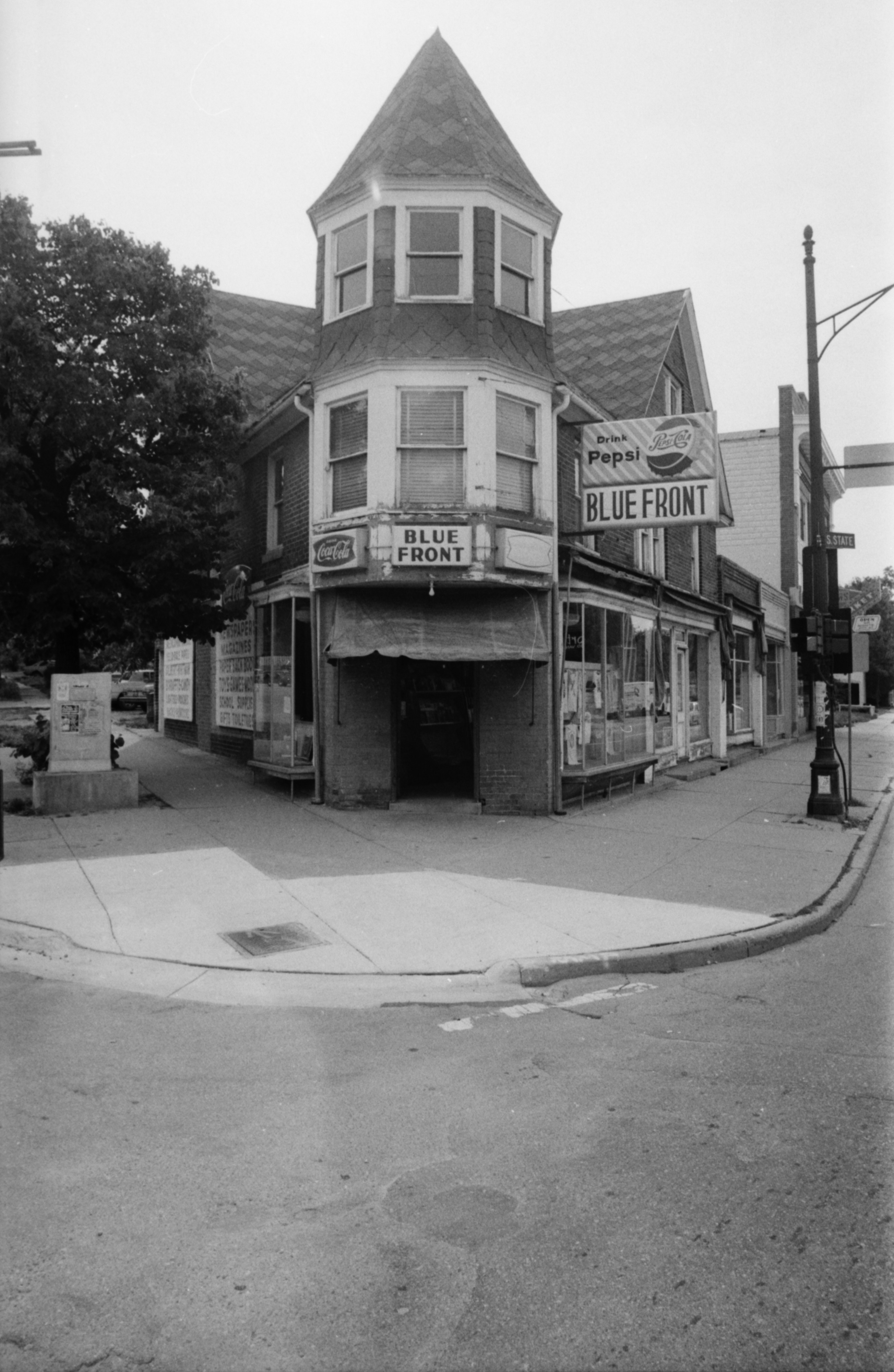 Exterior of Blue Front Cigar Store, 701 Packard, August 15, 1980 image