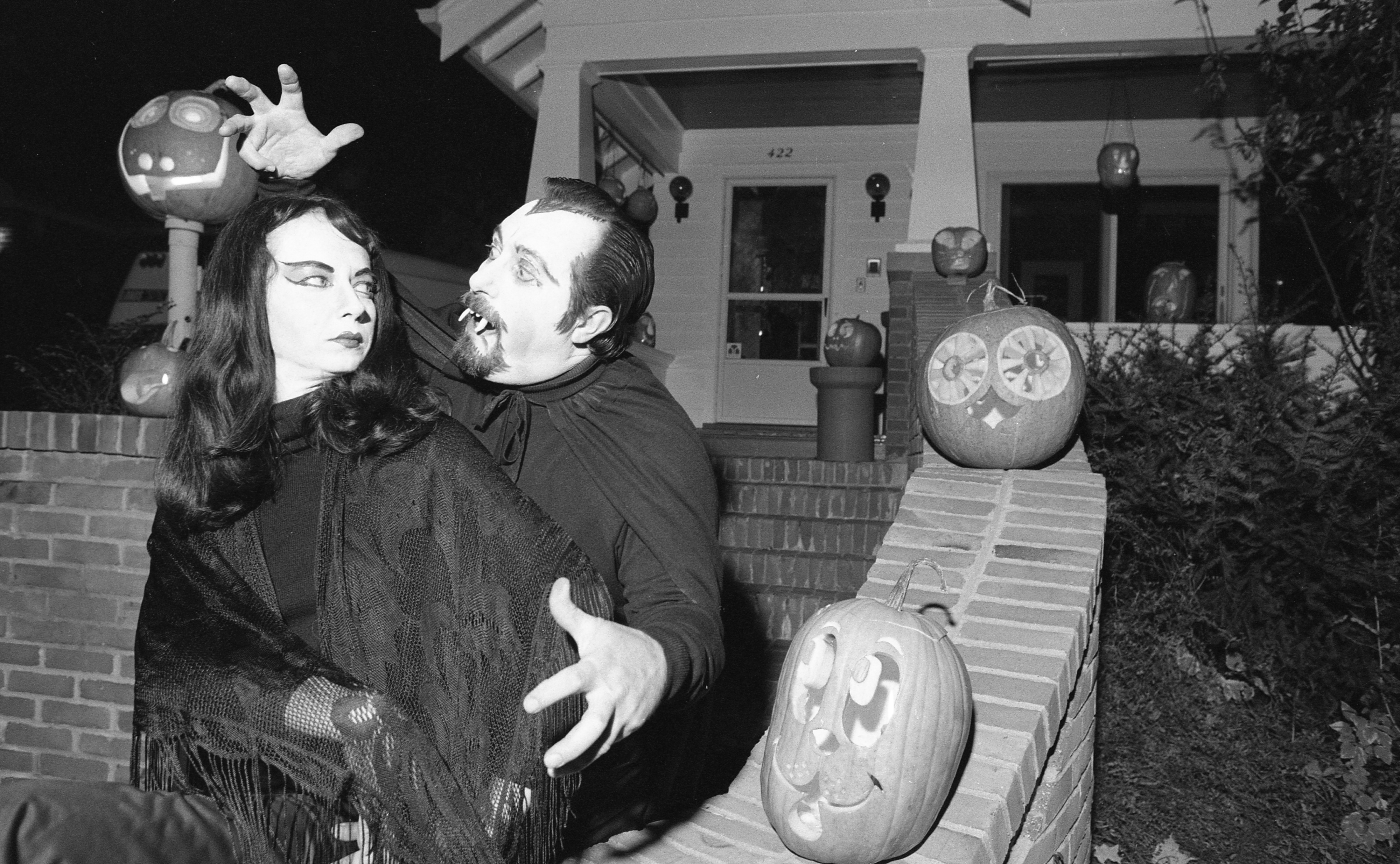 Bob & Carol Taylor In Costume On Halloween, October 1980 image