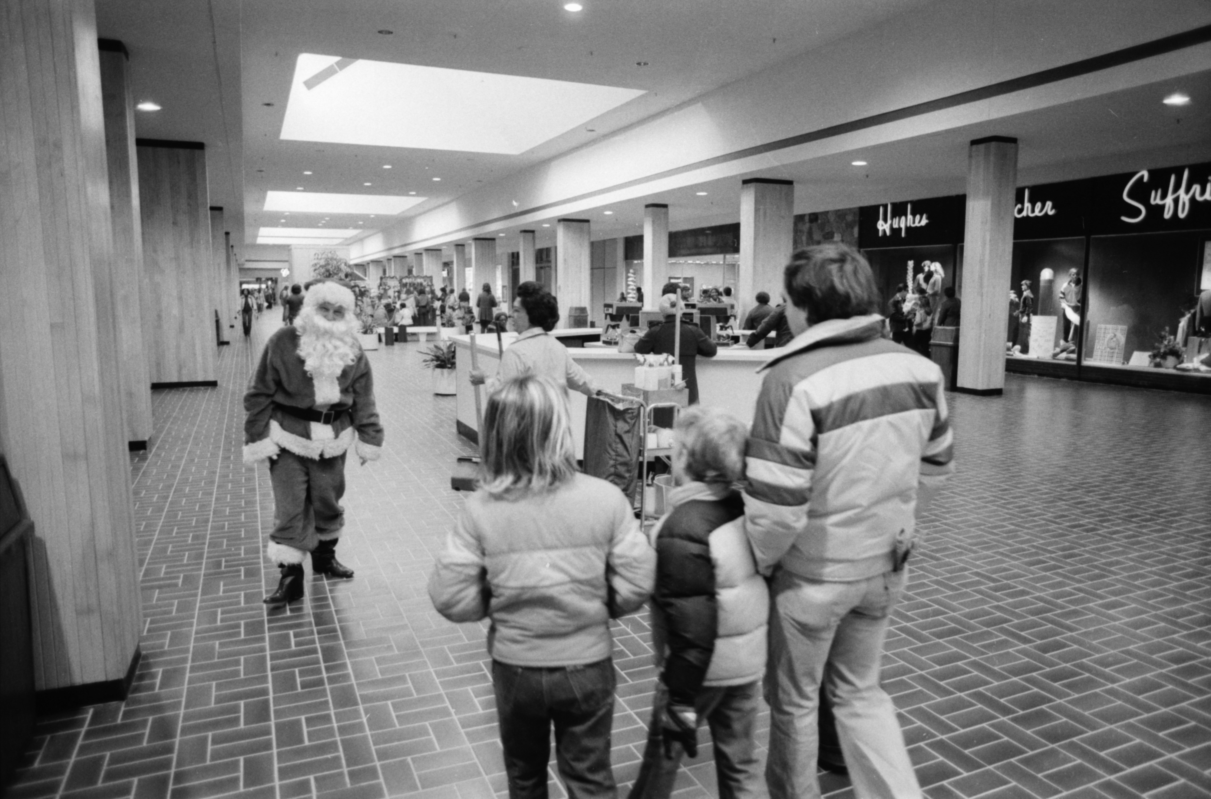 Santa At Arborland Mall, November 1980 image