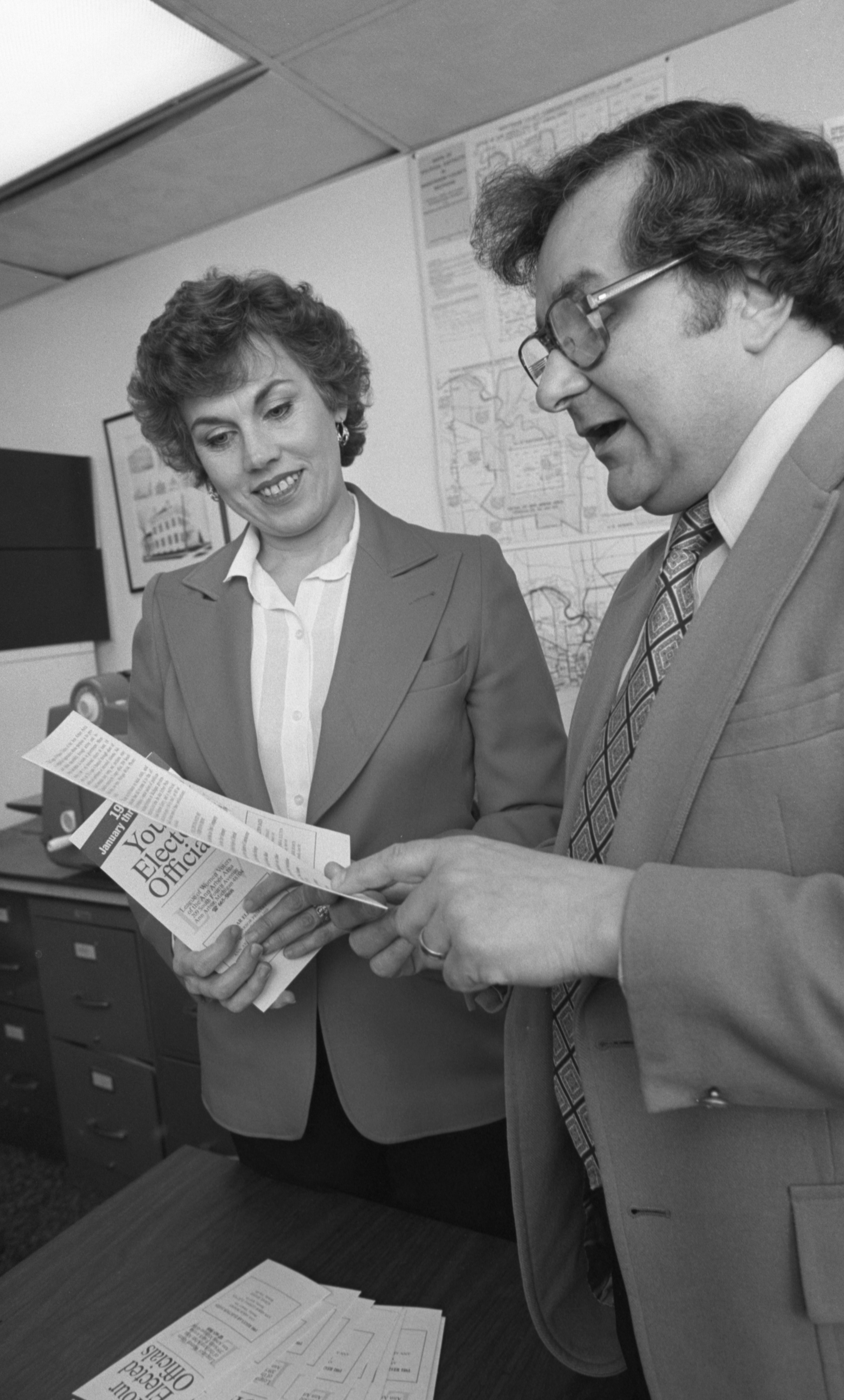 Gloria Frankena & James Frenza With The League Of Women Voters Publication 'Your Elected Officials', January 1981 image