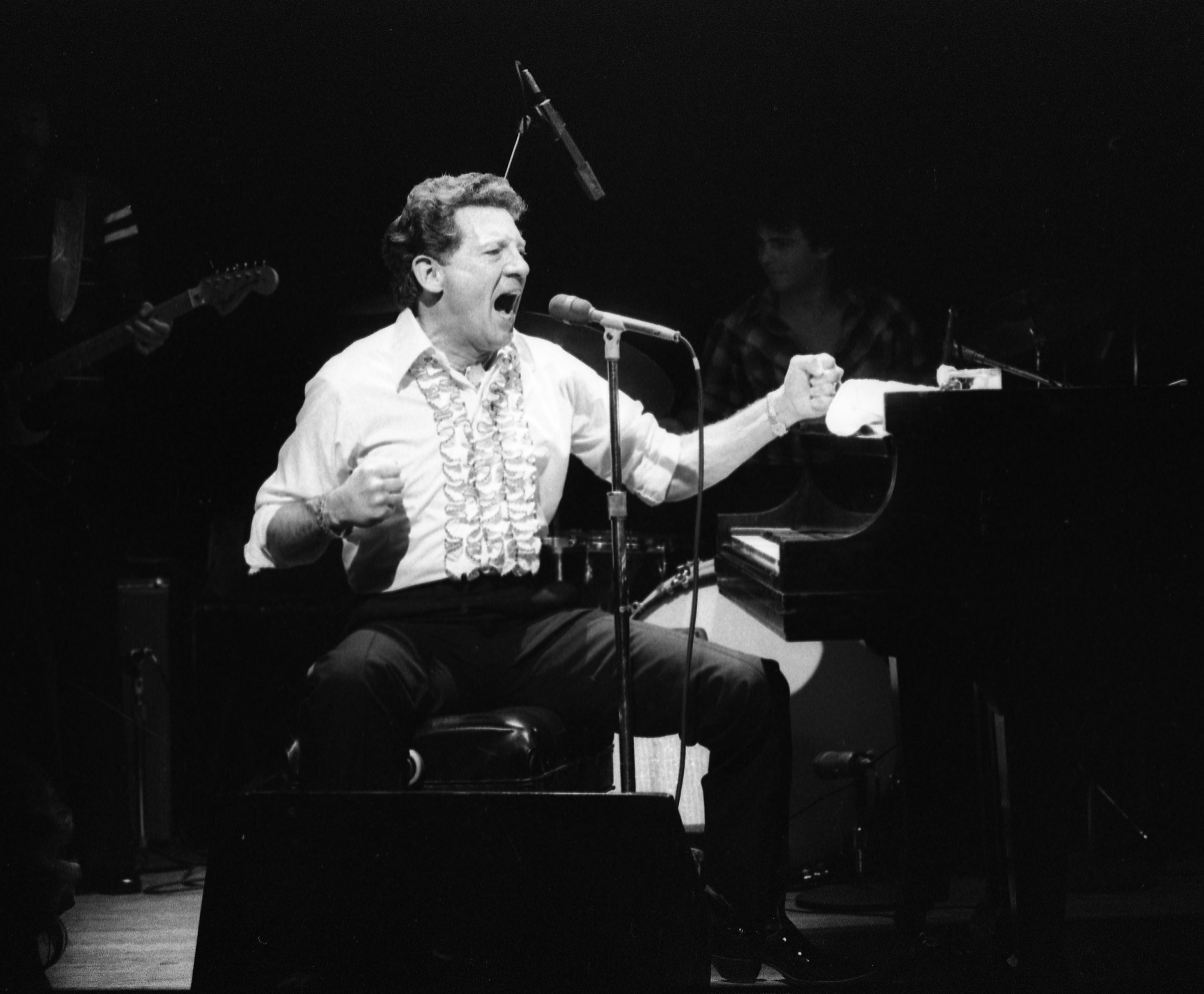 Jerry Lee Lewis Performs At The Second Chance Club, February 3, 1981 image