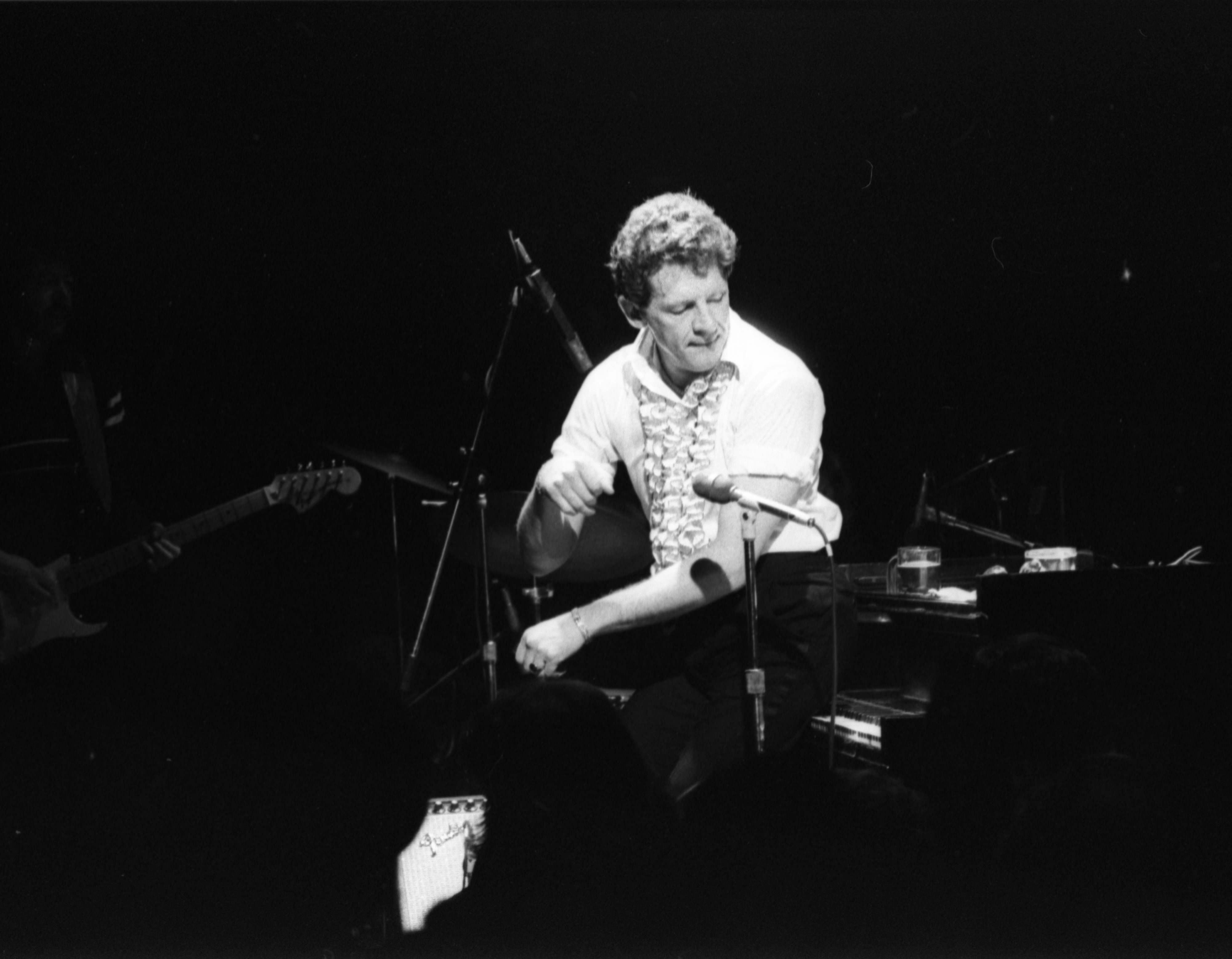 Jerry Lee Lewis Puts His Butt On Piano During Performance At The Second Chance Club, February 3, 1981 image