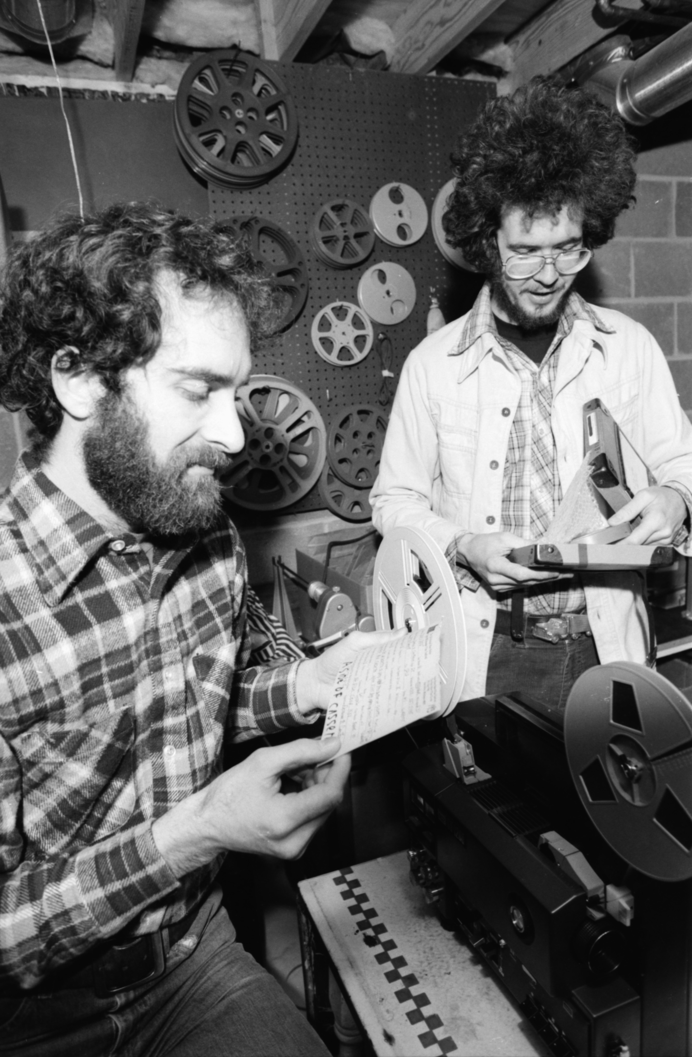 Tim Artist and Dan Gunning screen submissions to the 11th annual 8mm Film Festival, February 1981 image