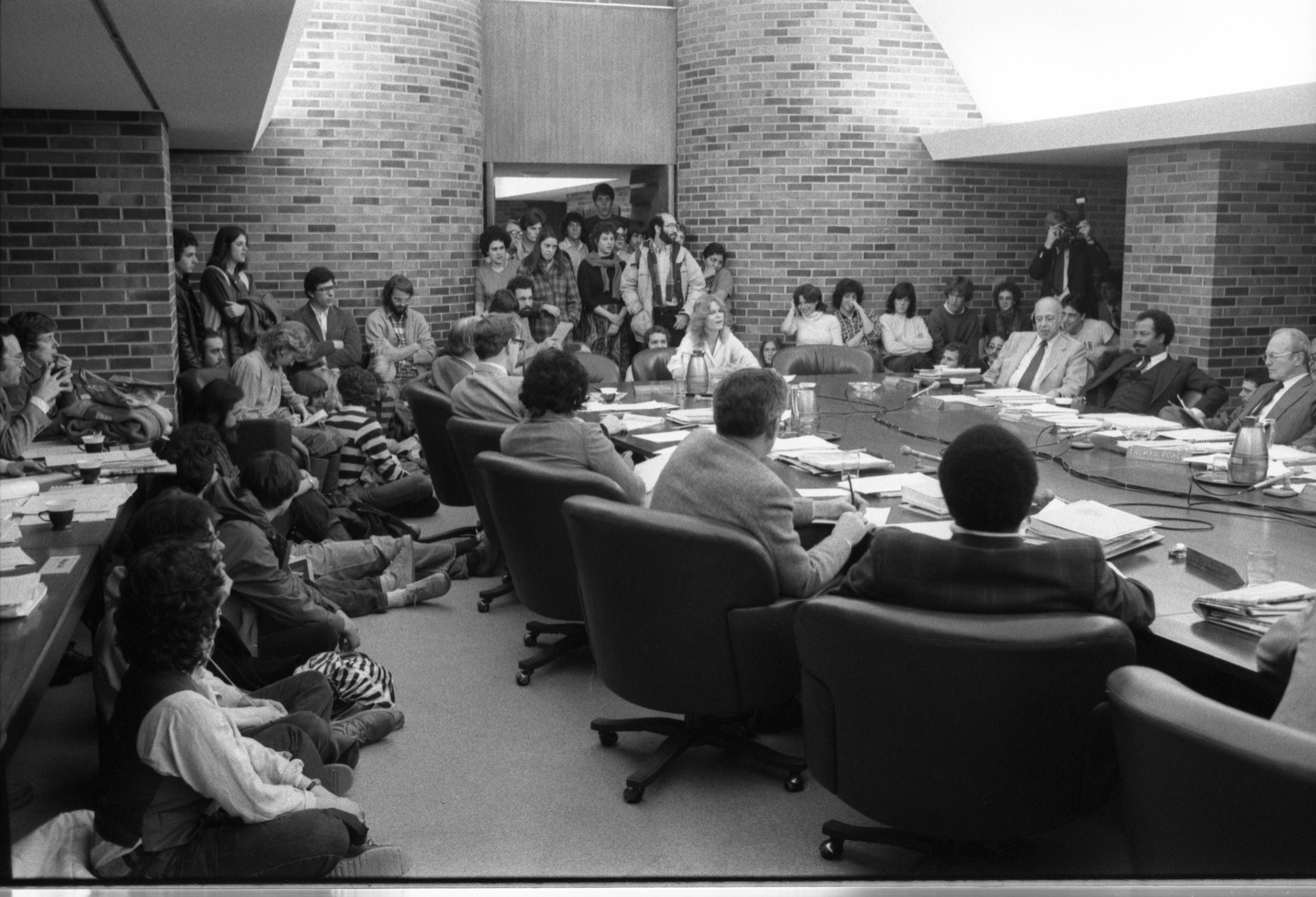 UM Student, Lisa Drouilard, Addresses Board Of Regents, February 20, 1981 image