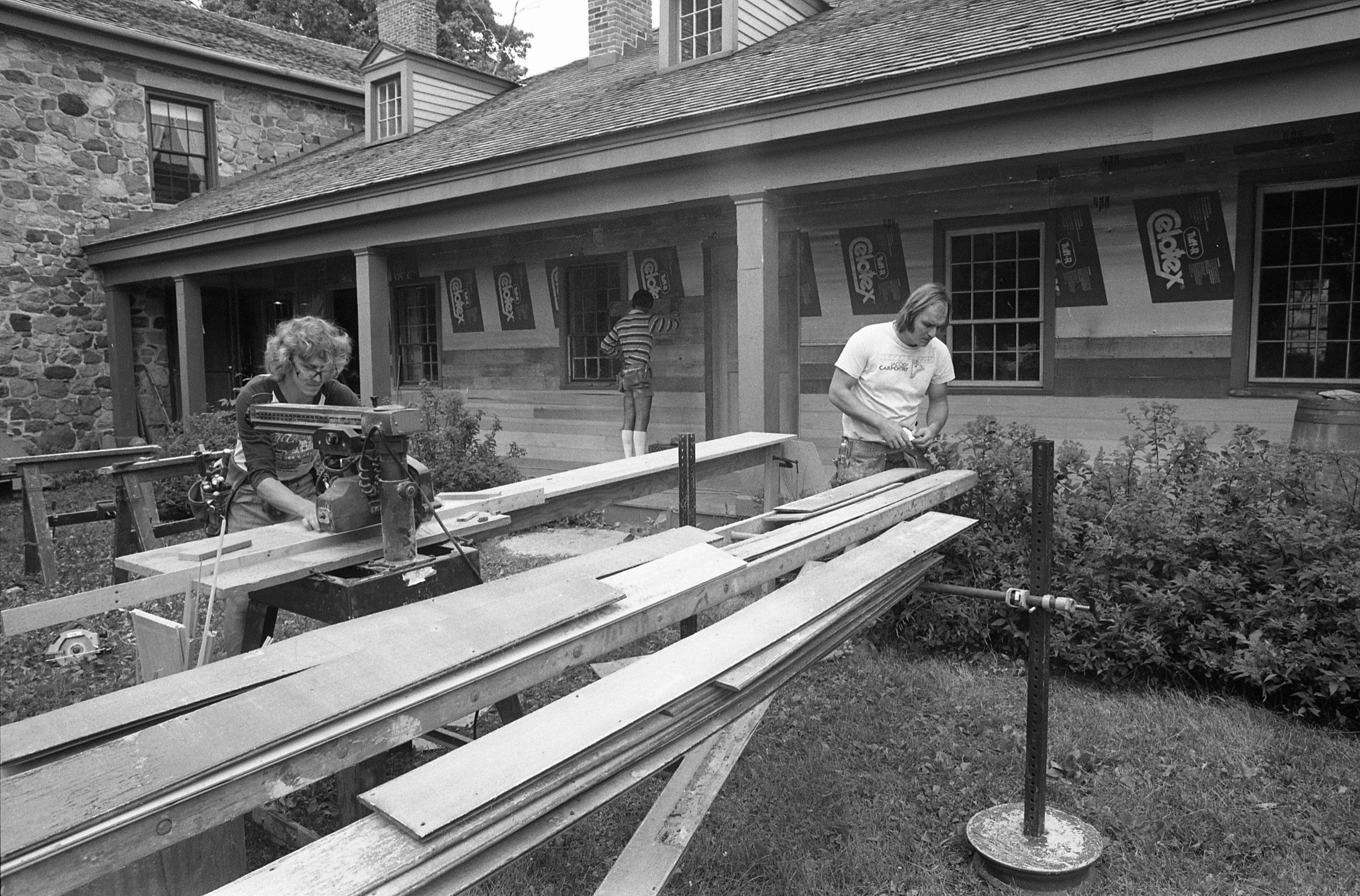 Cobblestone Farm House Gets New Siding, July 26, 1981 image