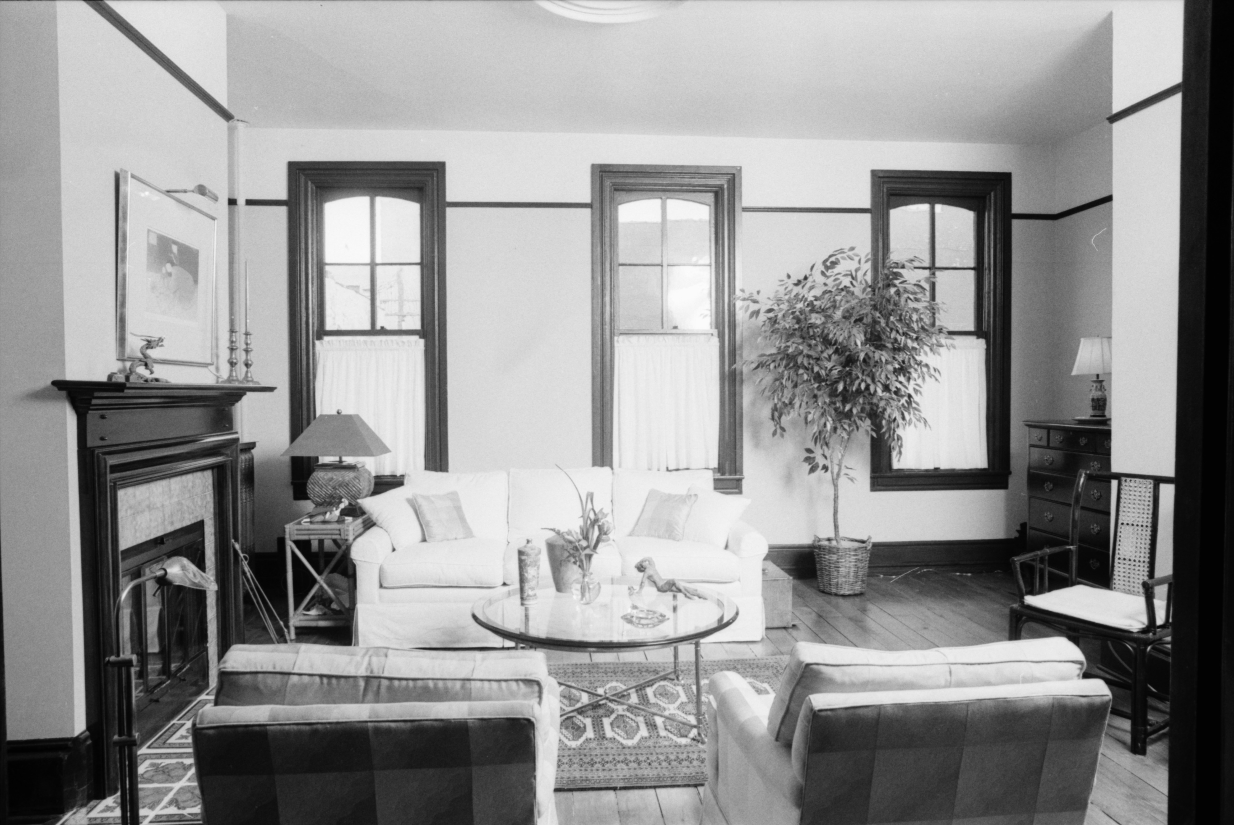 Furnished Living Space in an Upstairs Apartment on West Liberty Street, August 1988 image