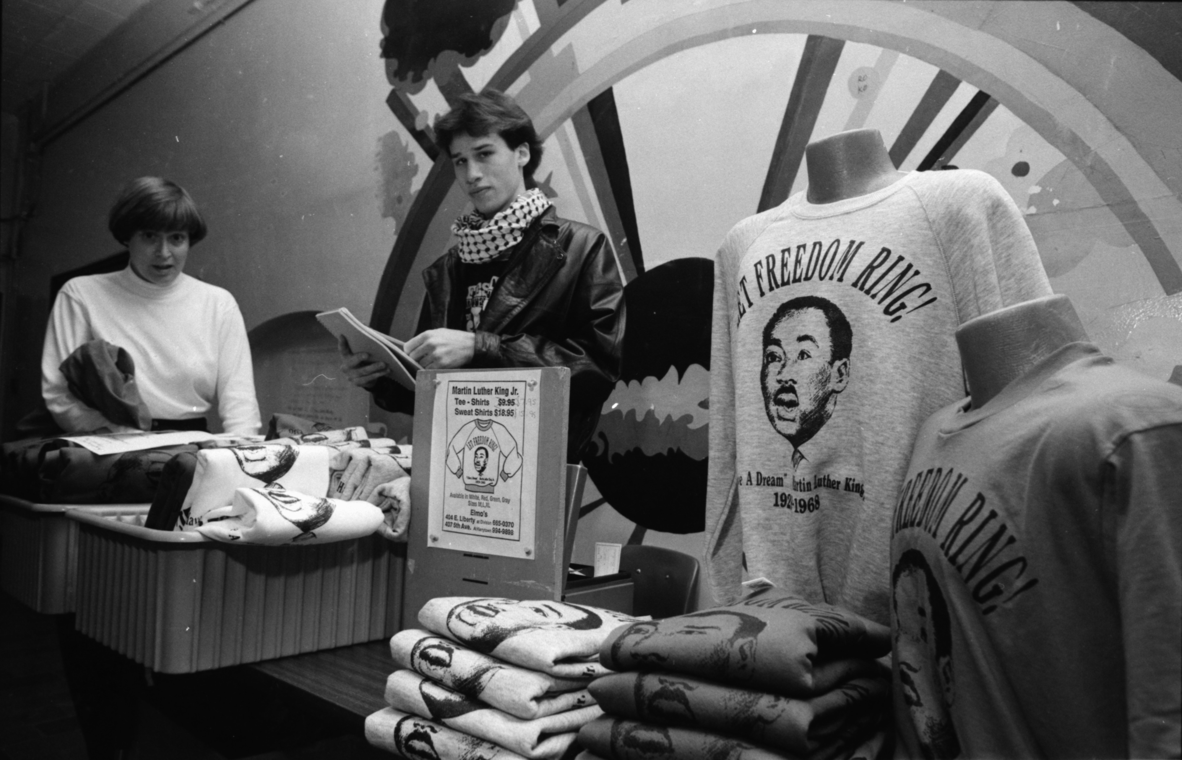 Shirt Sale to Celebrate Martin Luther King Day at Community High, January 1989 image