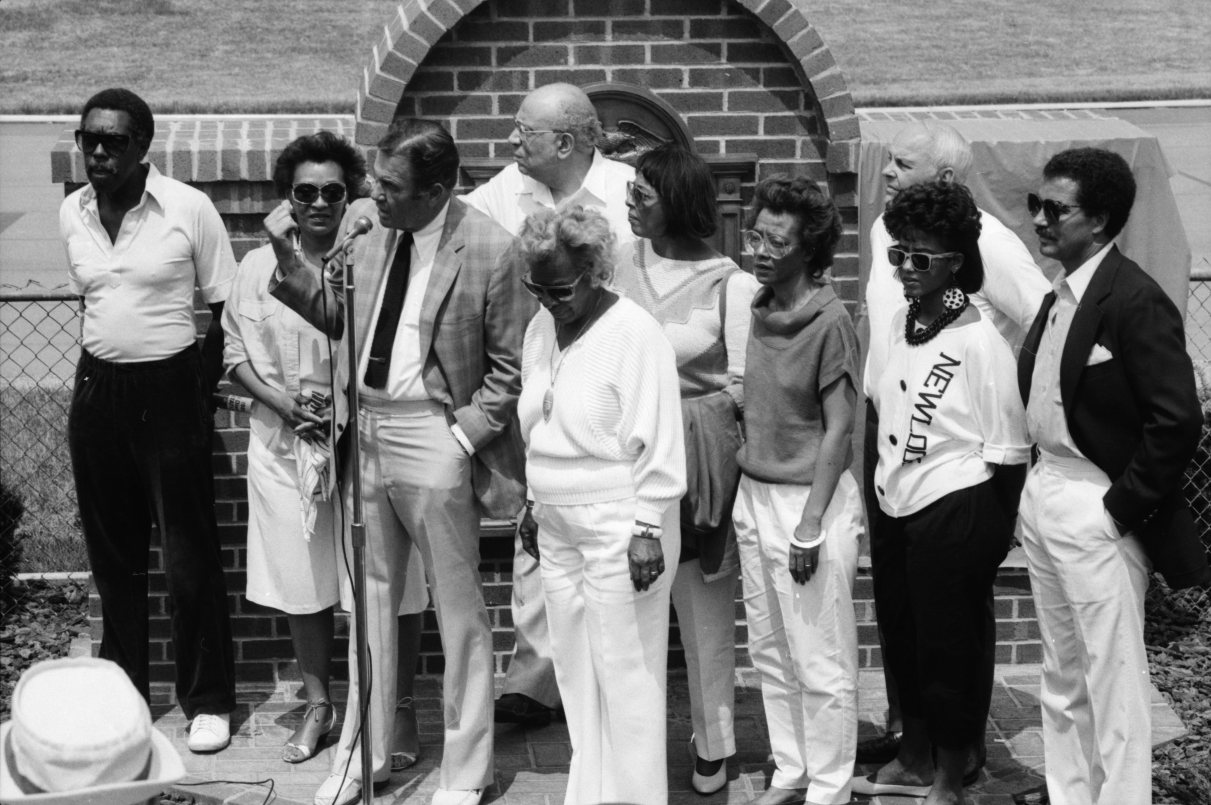 Jesse Owens Plaque Dedication, May 1985 image
