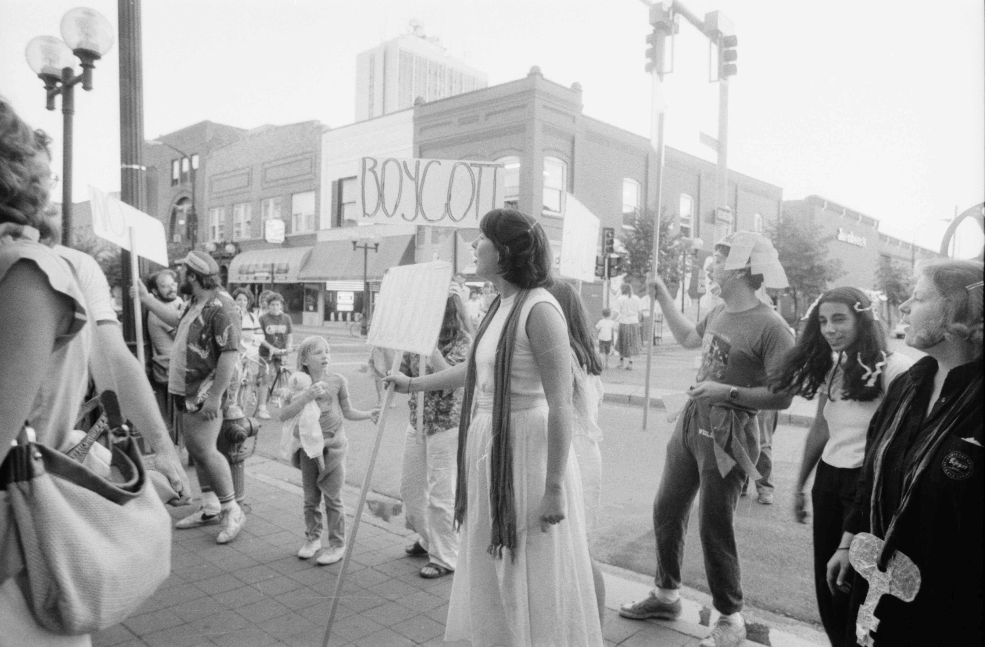 Gay Rights Rally Outside Michigan Theater, June 1985 image