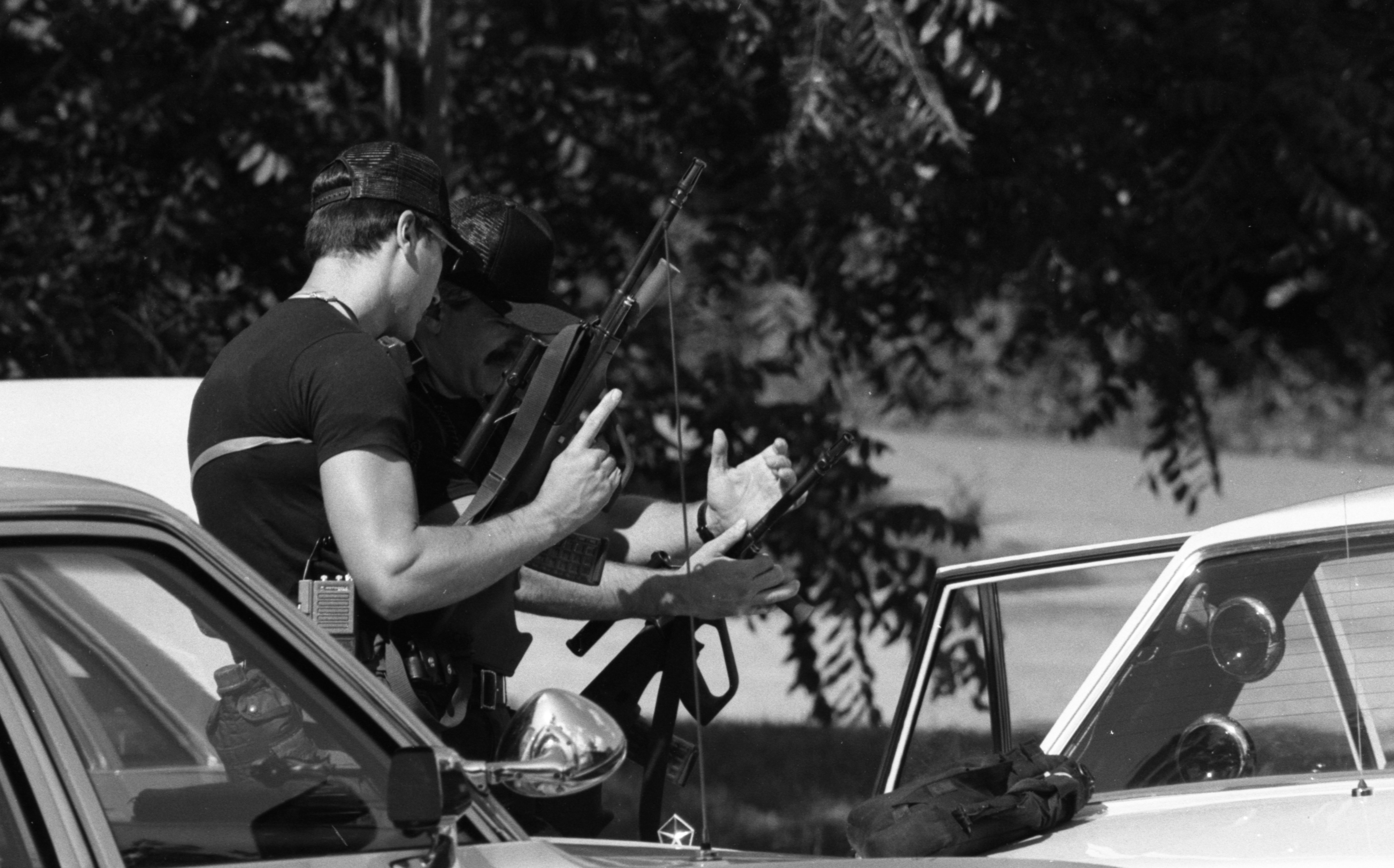 Ann Arbor Police Special Tactical Unit Responds To Barricaded Gunman, July 1985 image