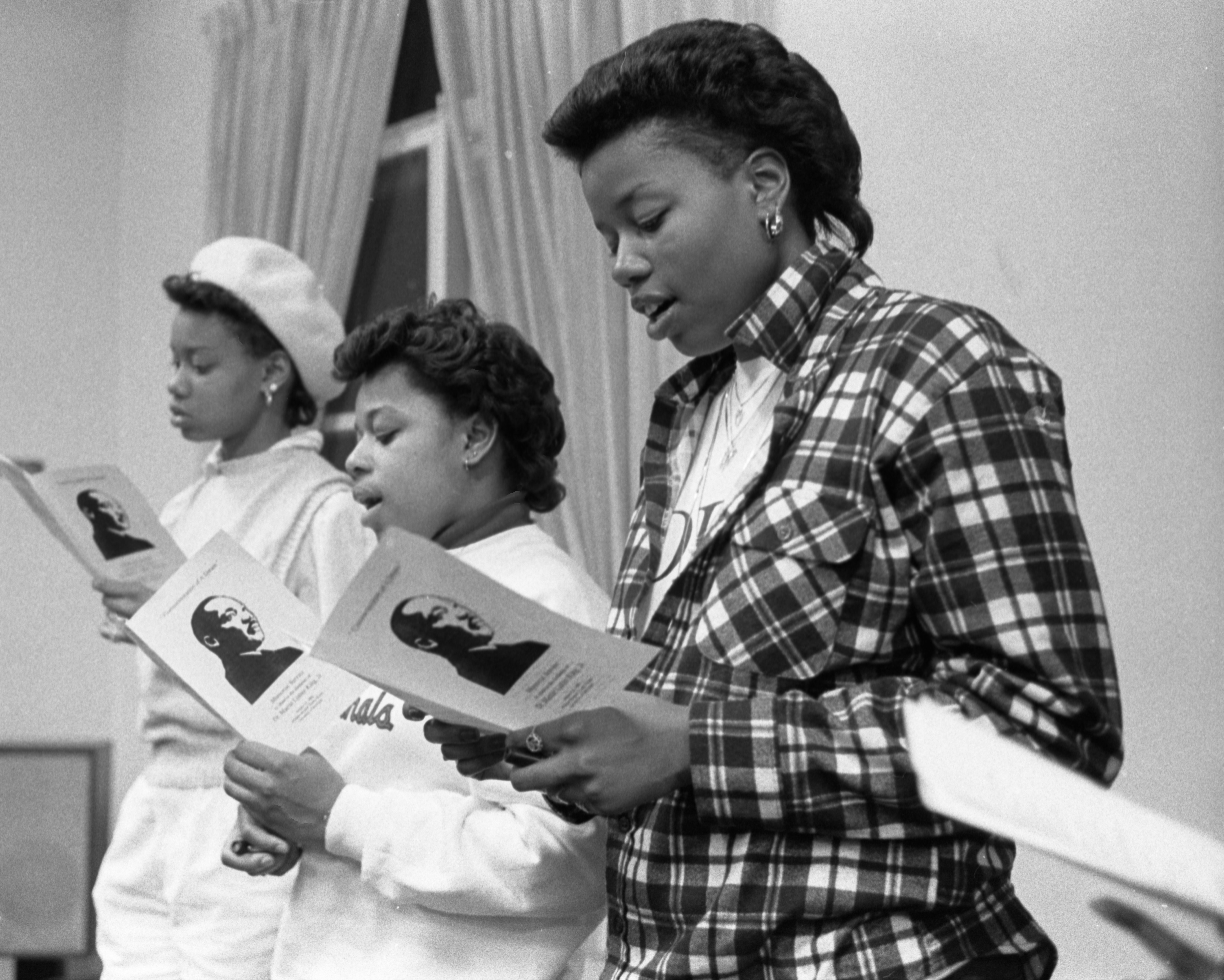 Singers At The Martin Luther King Jr Memoriam At Trotter House, January 18, 1986 image
