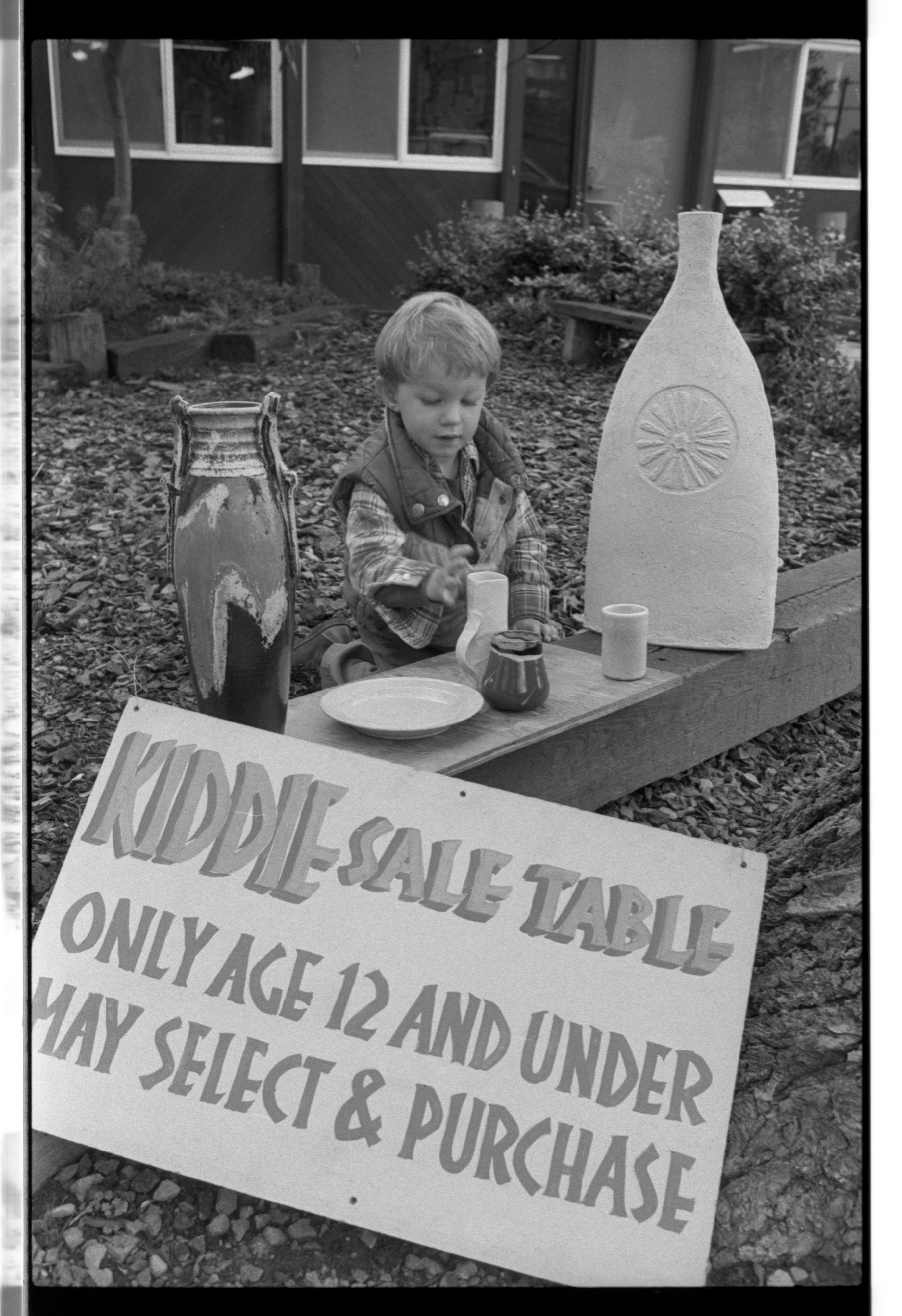 Potters Guild Kiddie Sale Table, May 1986 image