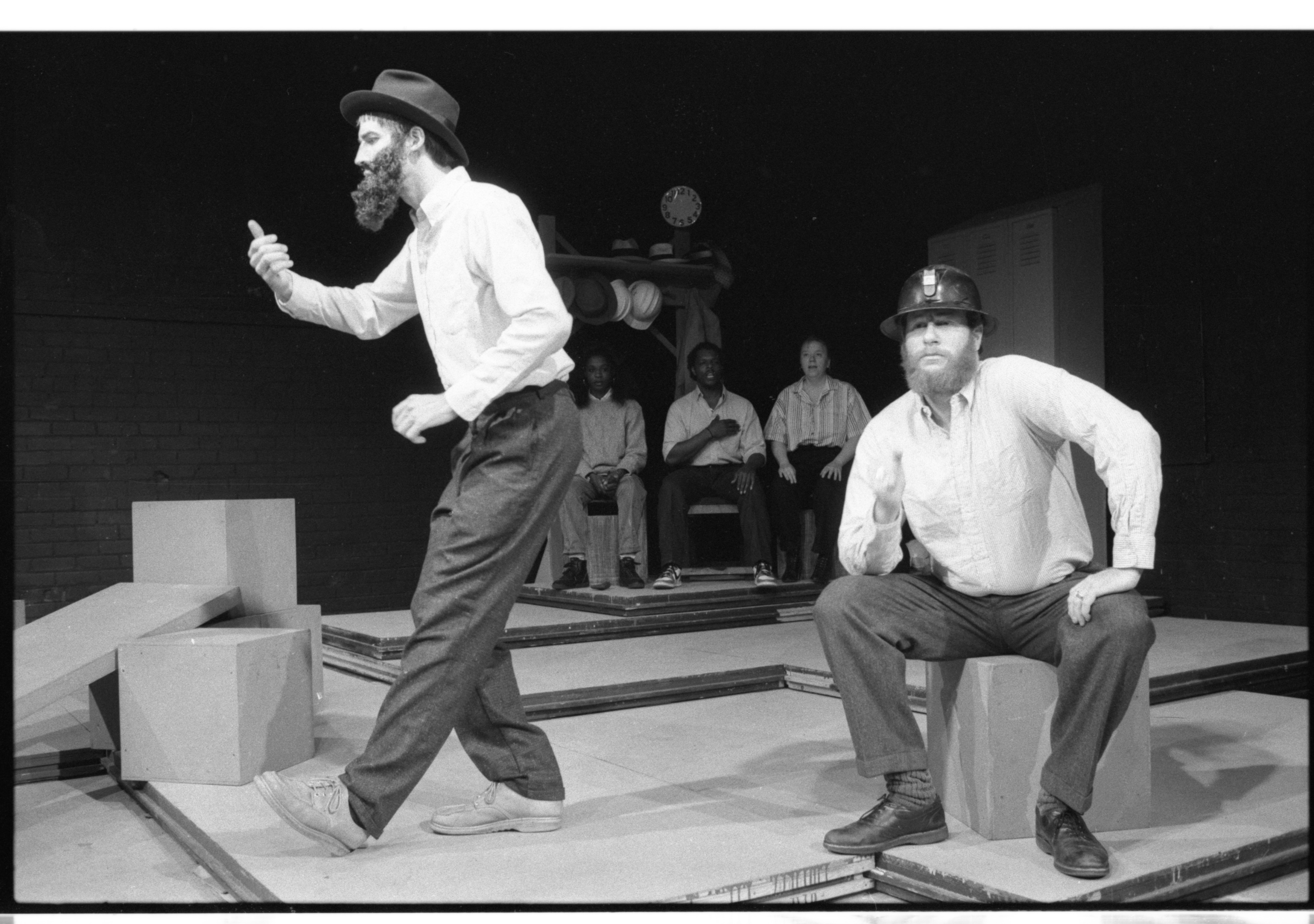 Actors perform in 'Worksong,' October 1986 image
