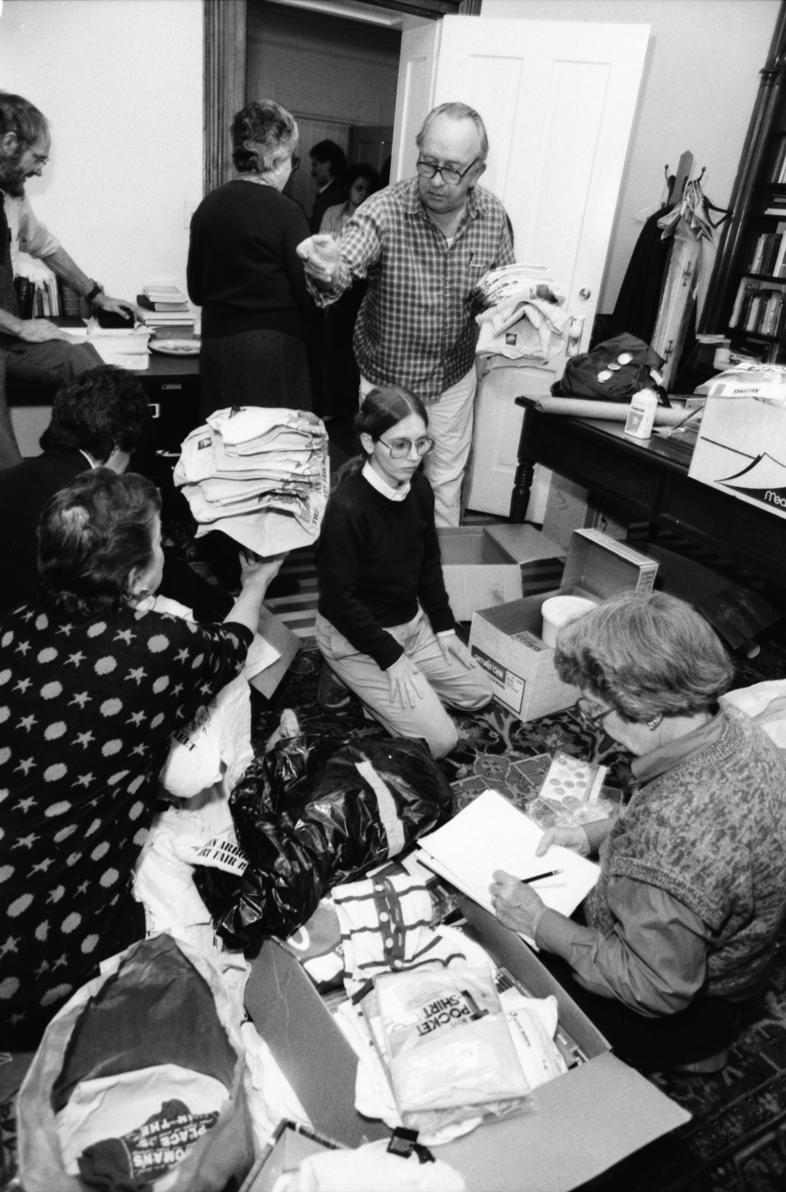 Wrapping Gifts for Nicaragua, October 1986 image