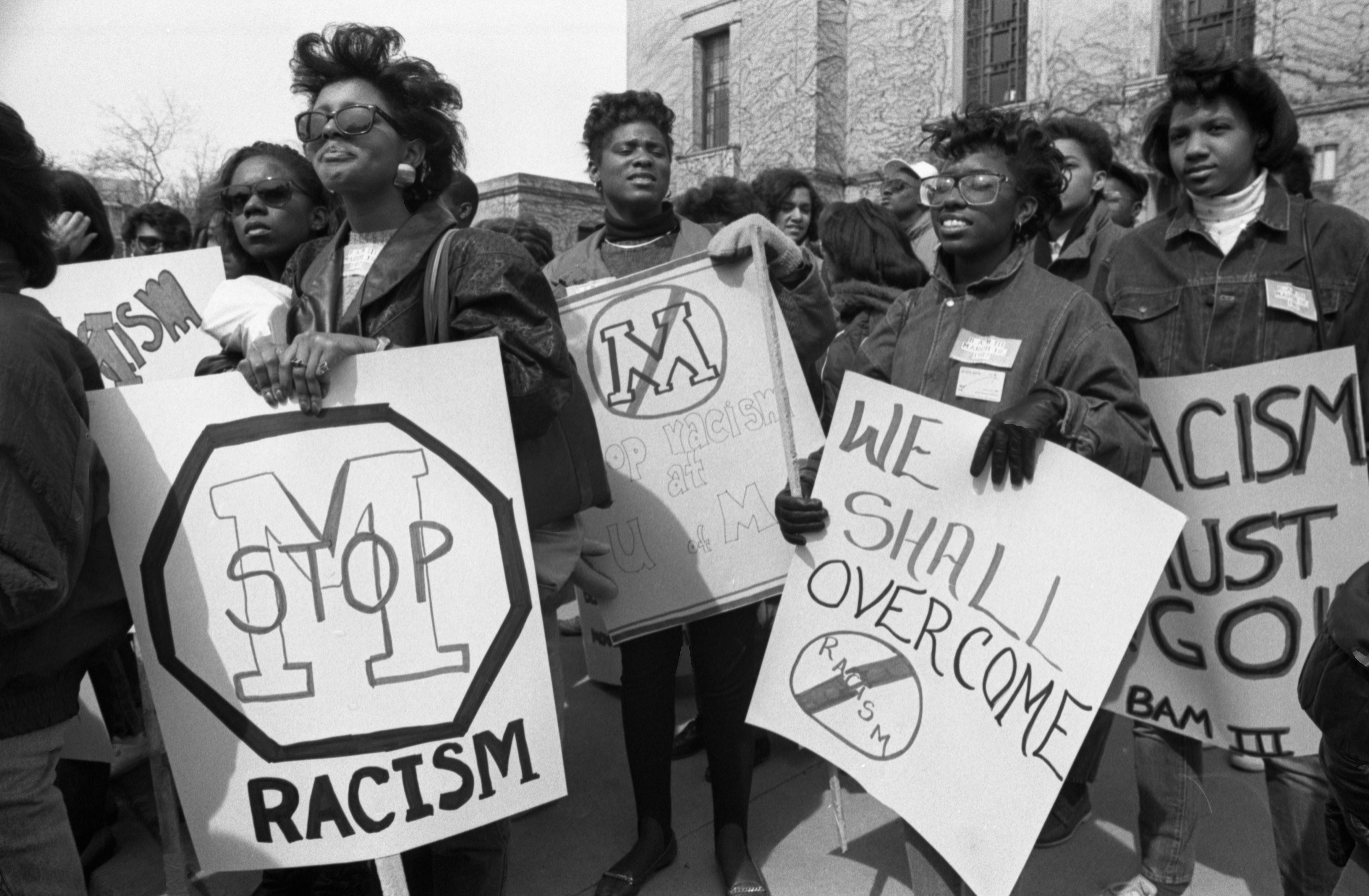 Black Action Movement III Protesters, March 18, 1987 image