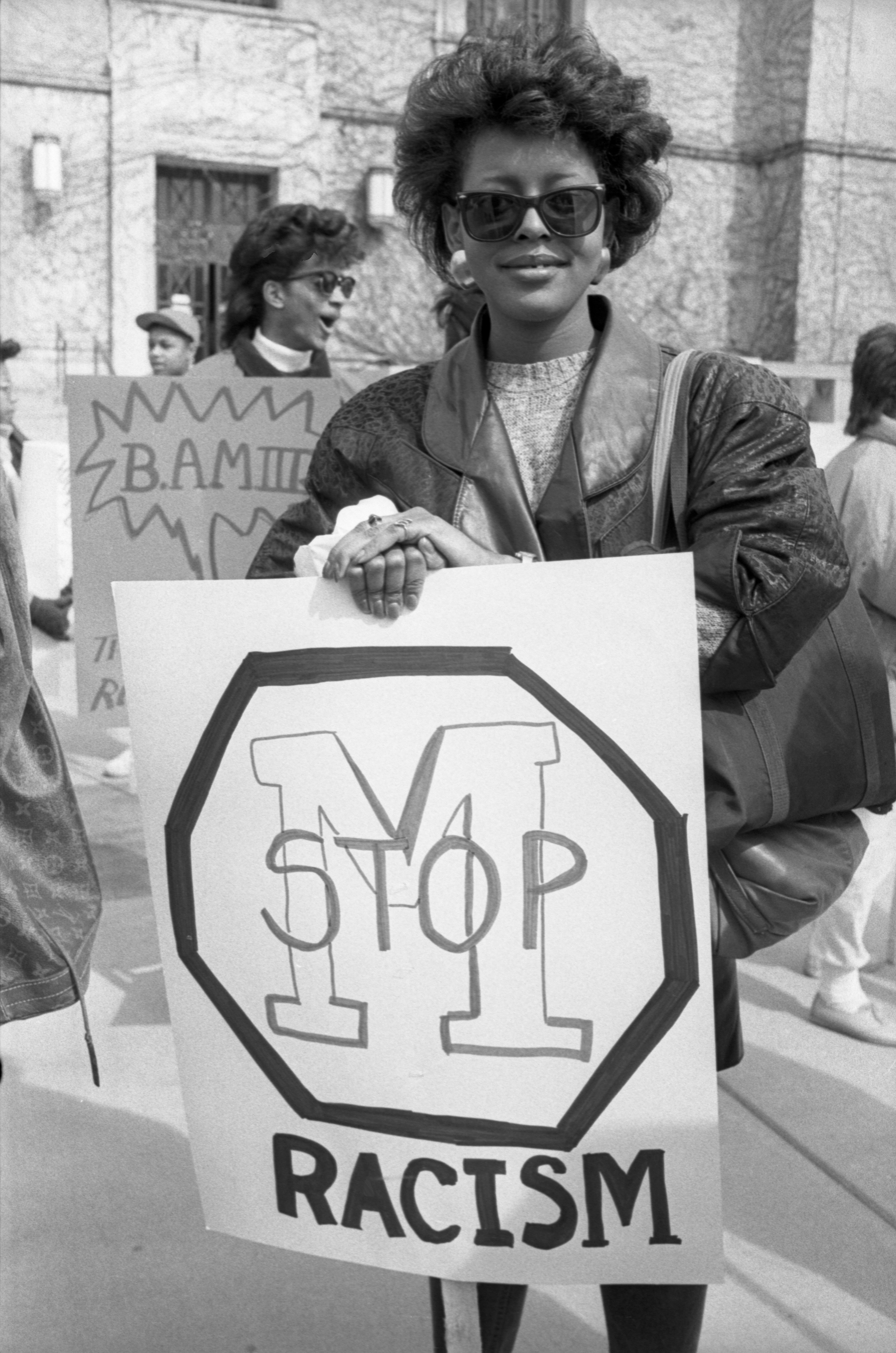 Black Action Movement III Protester, March 18, 1987 image
