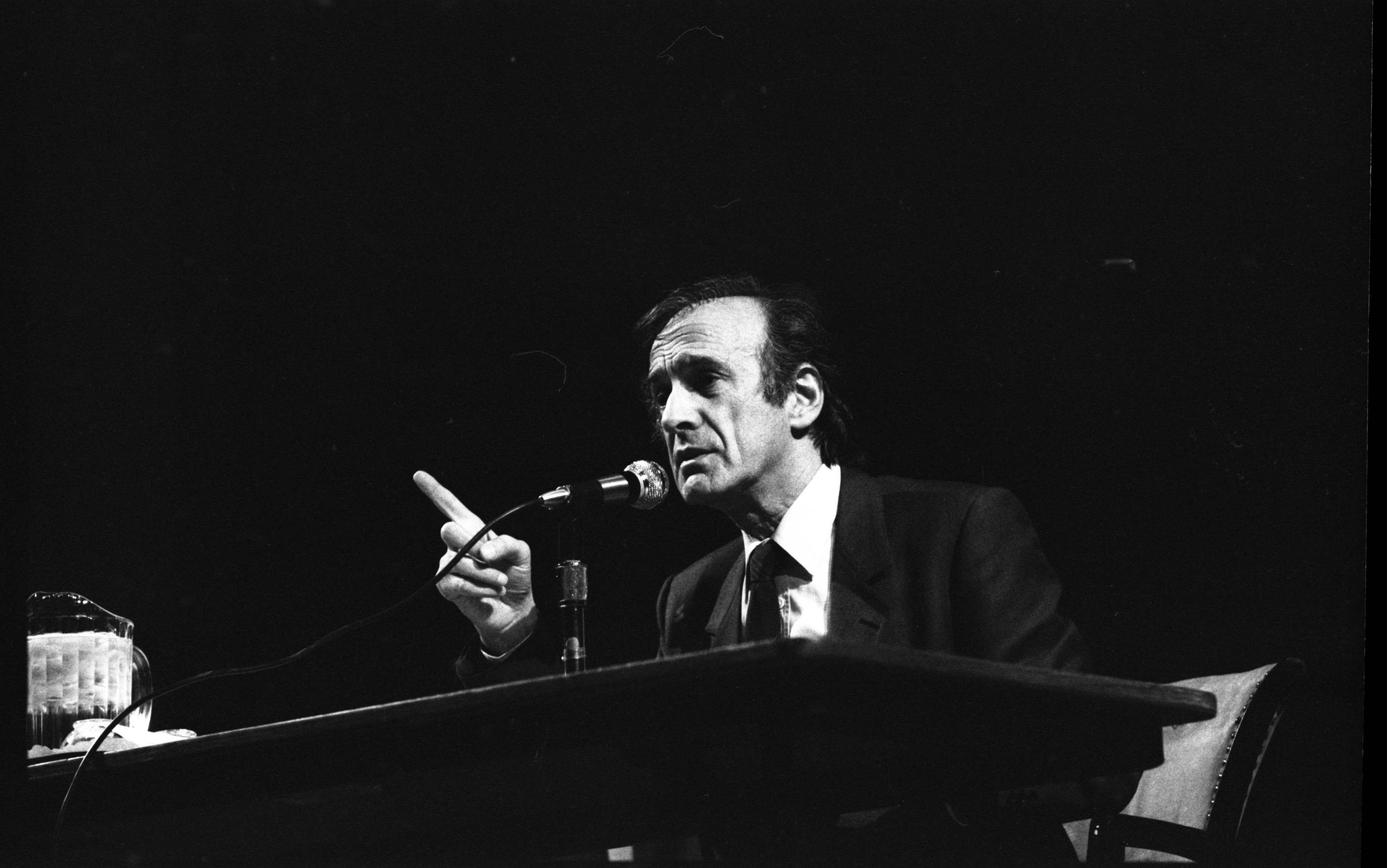 Elie Wiesel Speaks To Students At Rackham, October 30, 1985 image