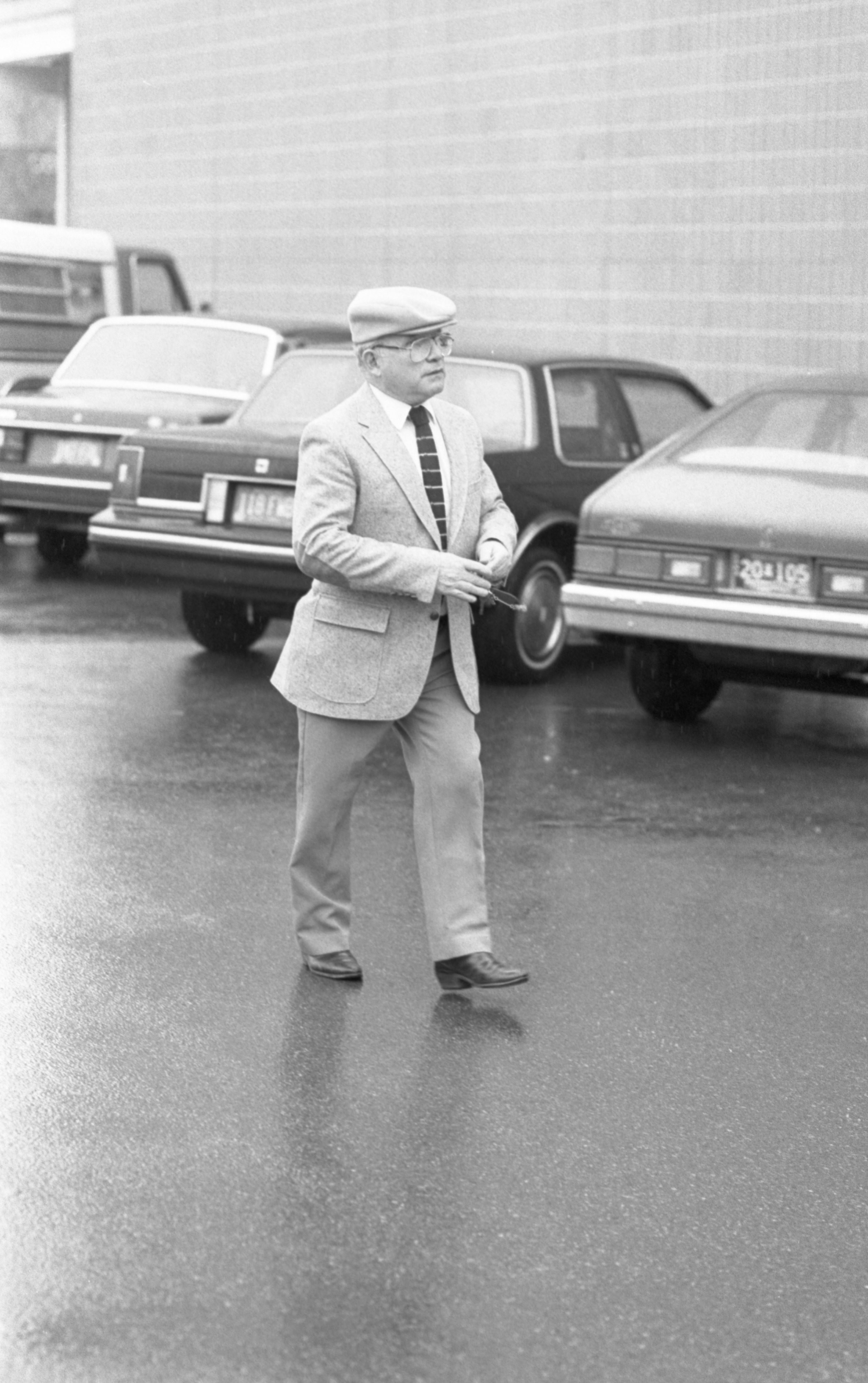 Ike Kozminski Outside Federal Court, February 1984 image