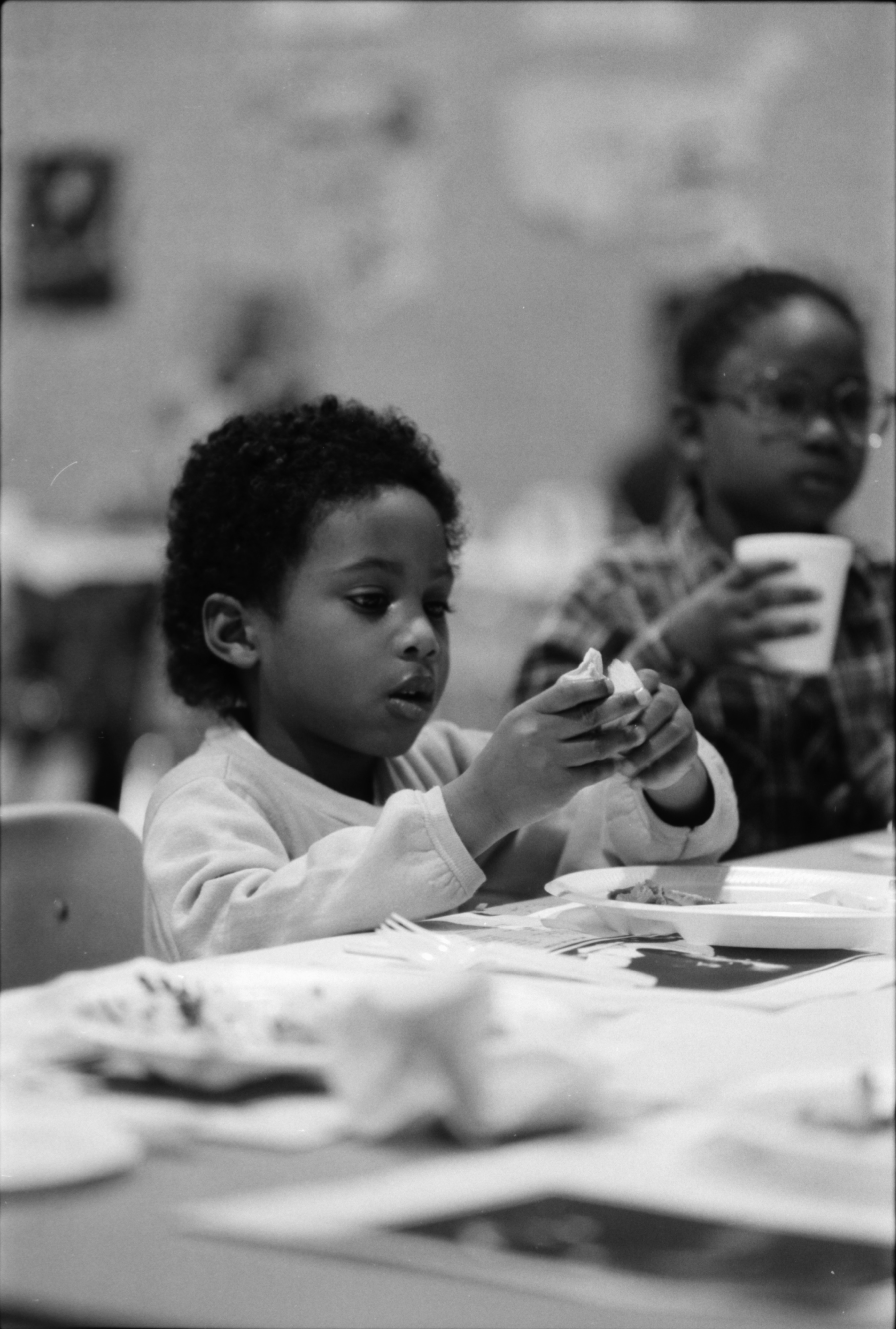 Children Eat Lunch at Parkridge Community Center, February 1984 image