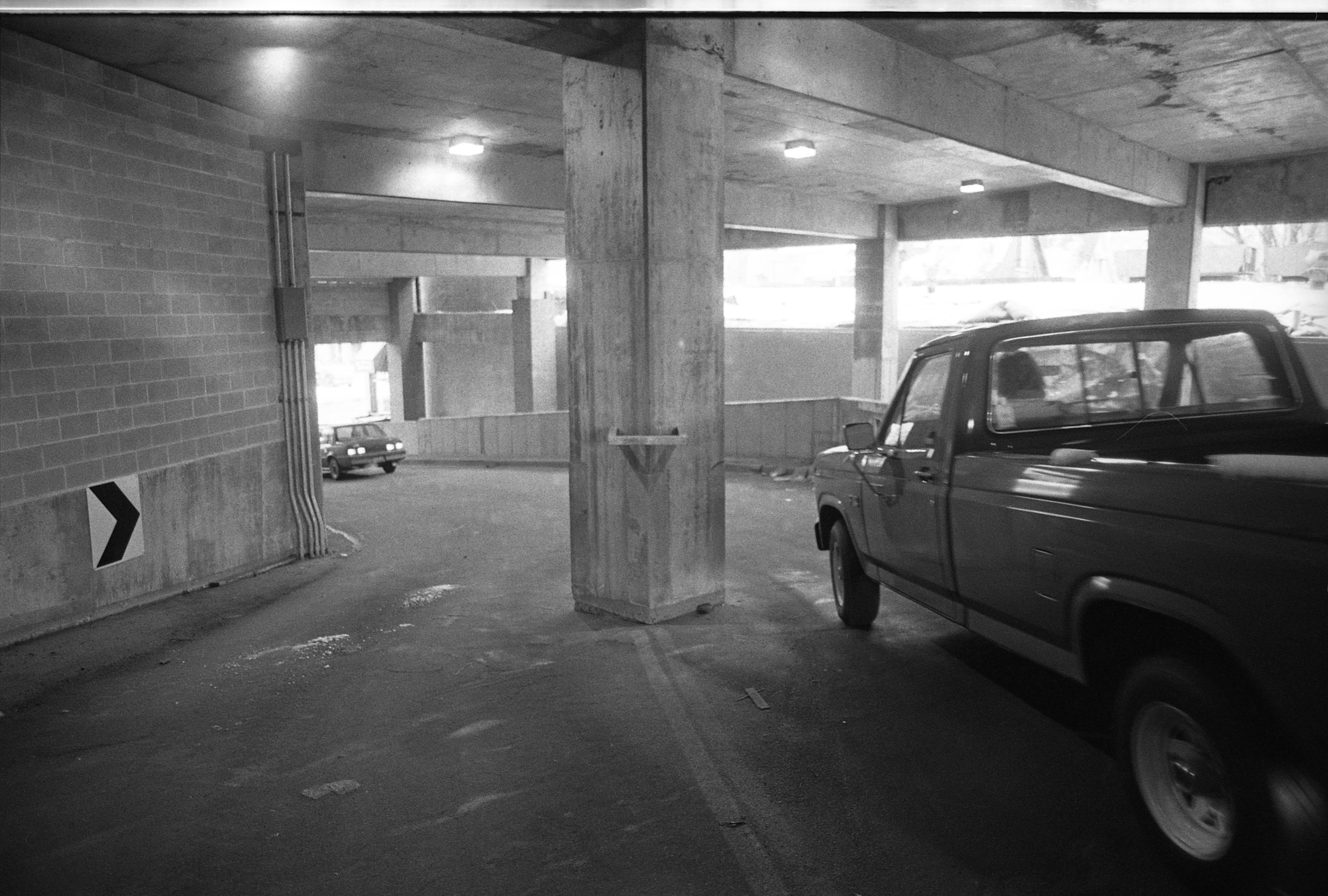 Parking Structure At Tally Hall, March 1986 image