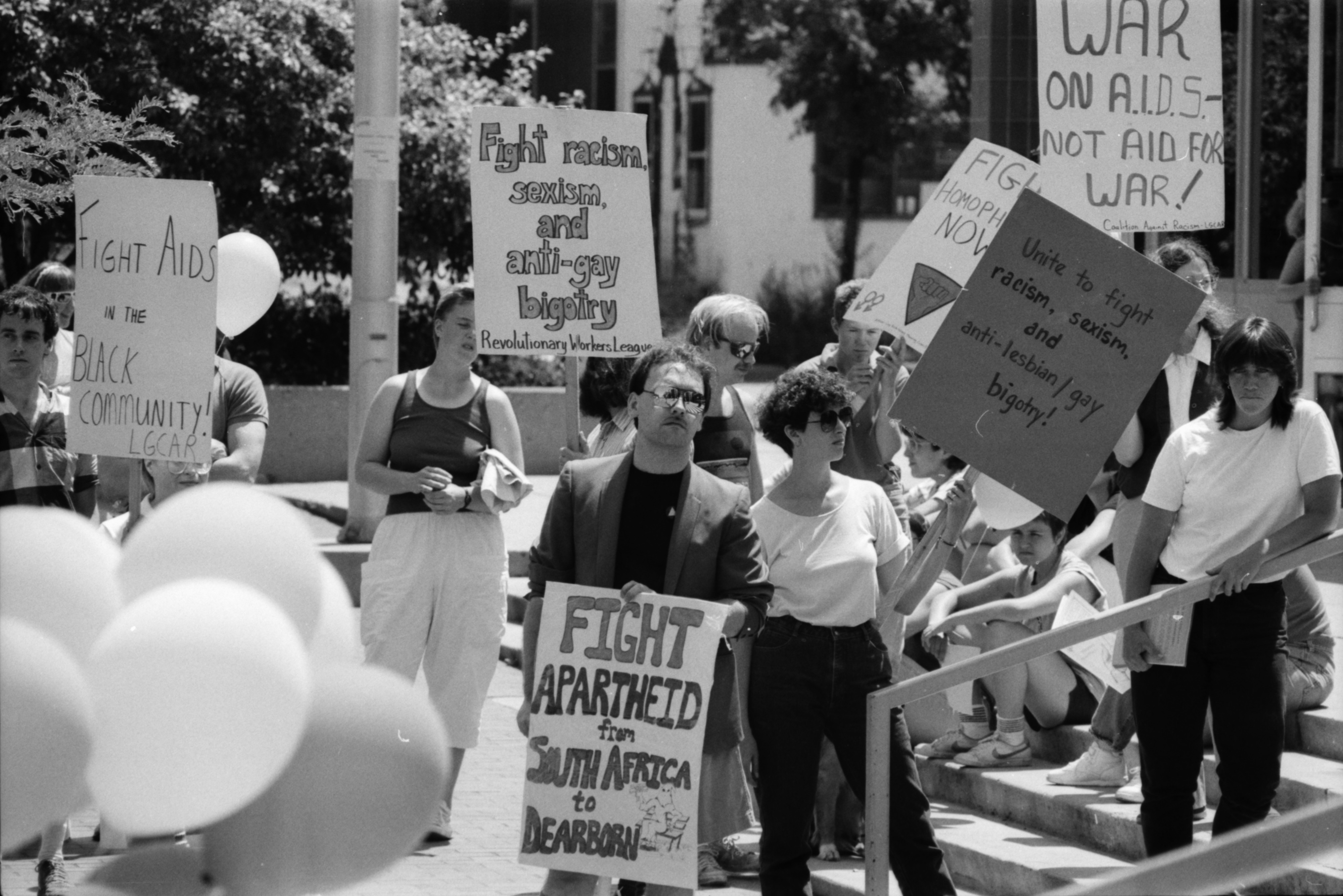 Sign Carriers At Lesbian-Gay Pride Rally, June 1986 image