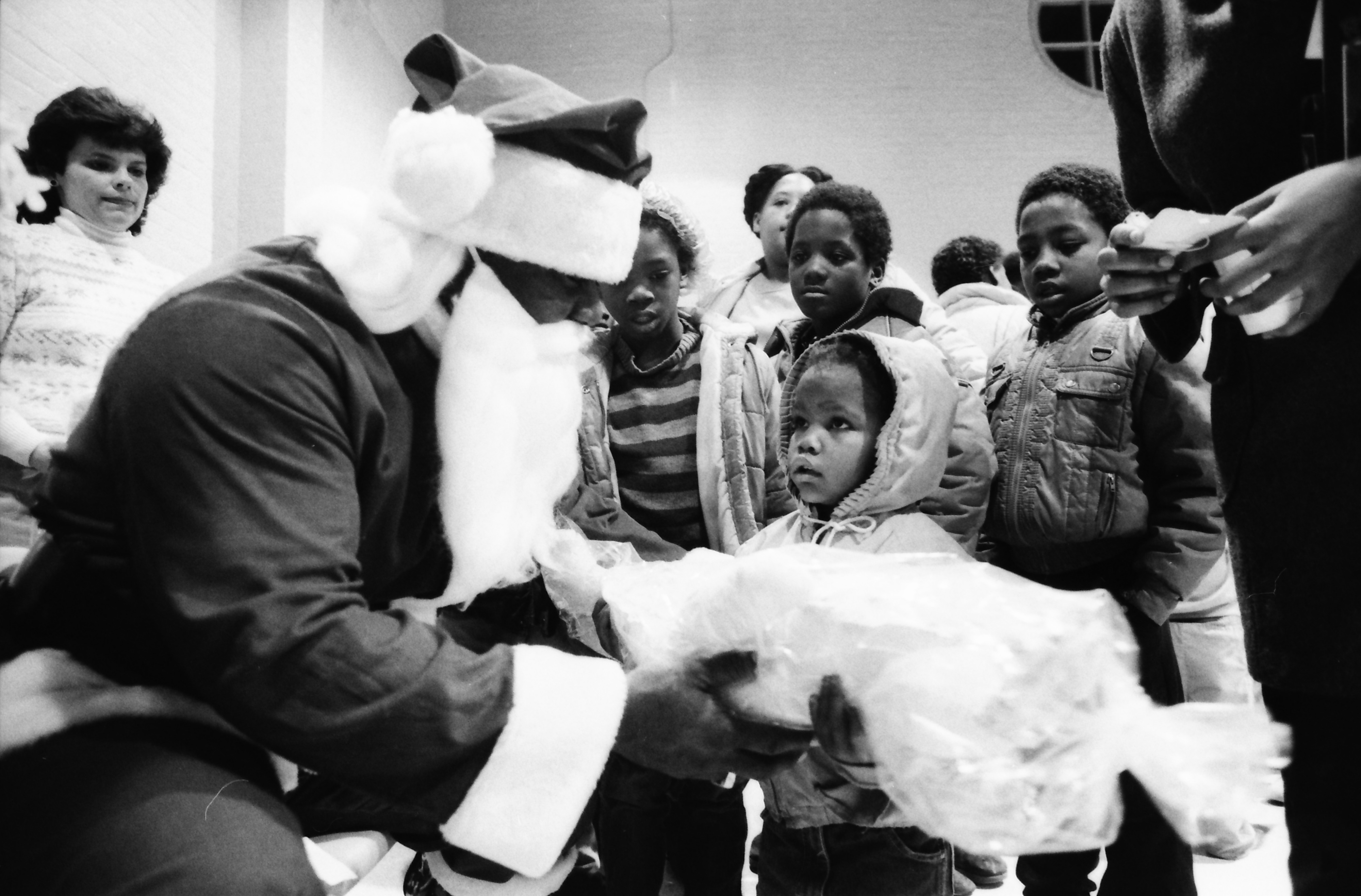 Valyncia Burrus Meets Santa at Parkridge Community Center, December 1986 image