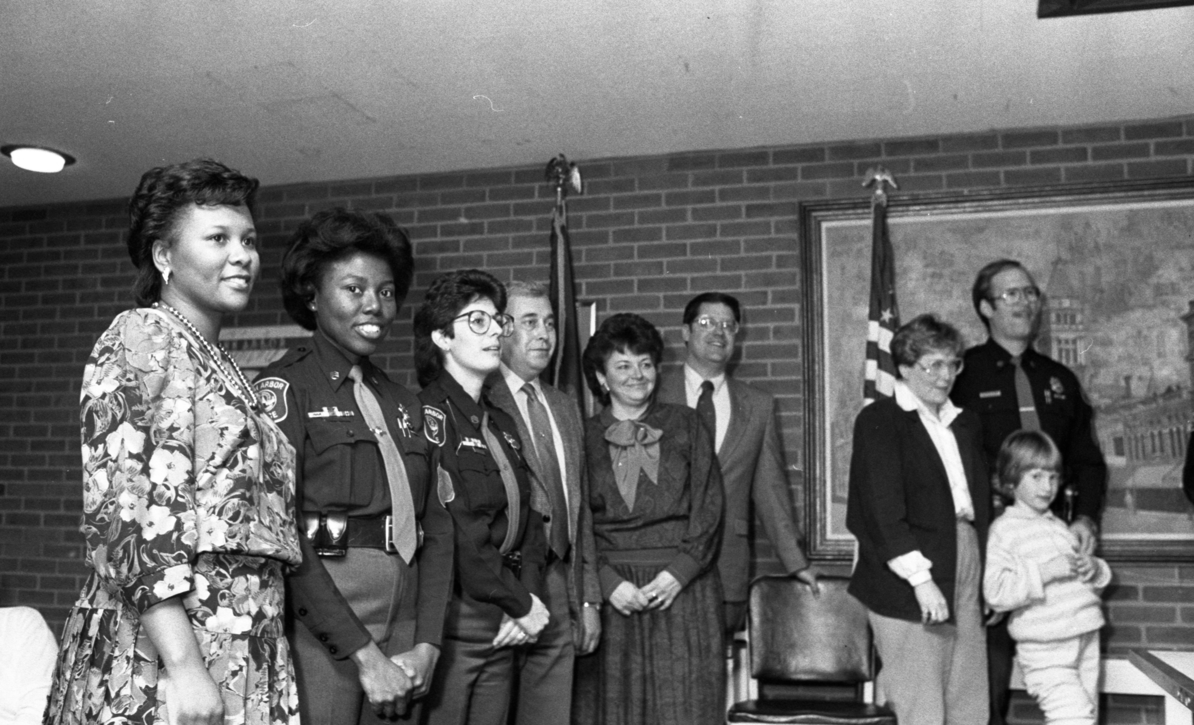 Ann Arbor Police Officers Promoted In Ceremony At City Hall, December 1987 image