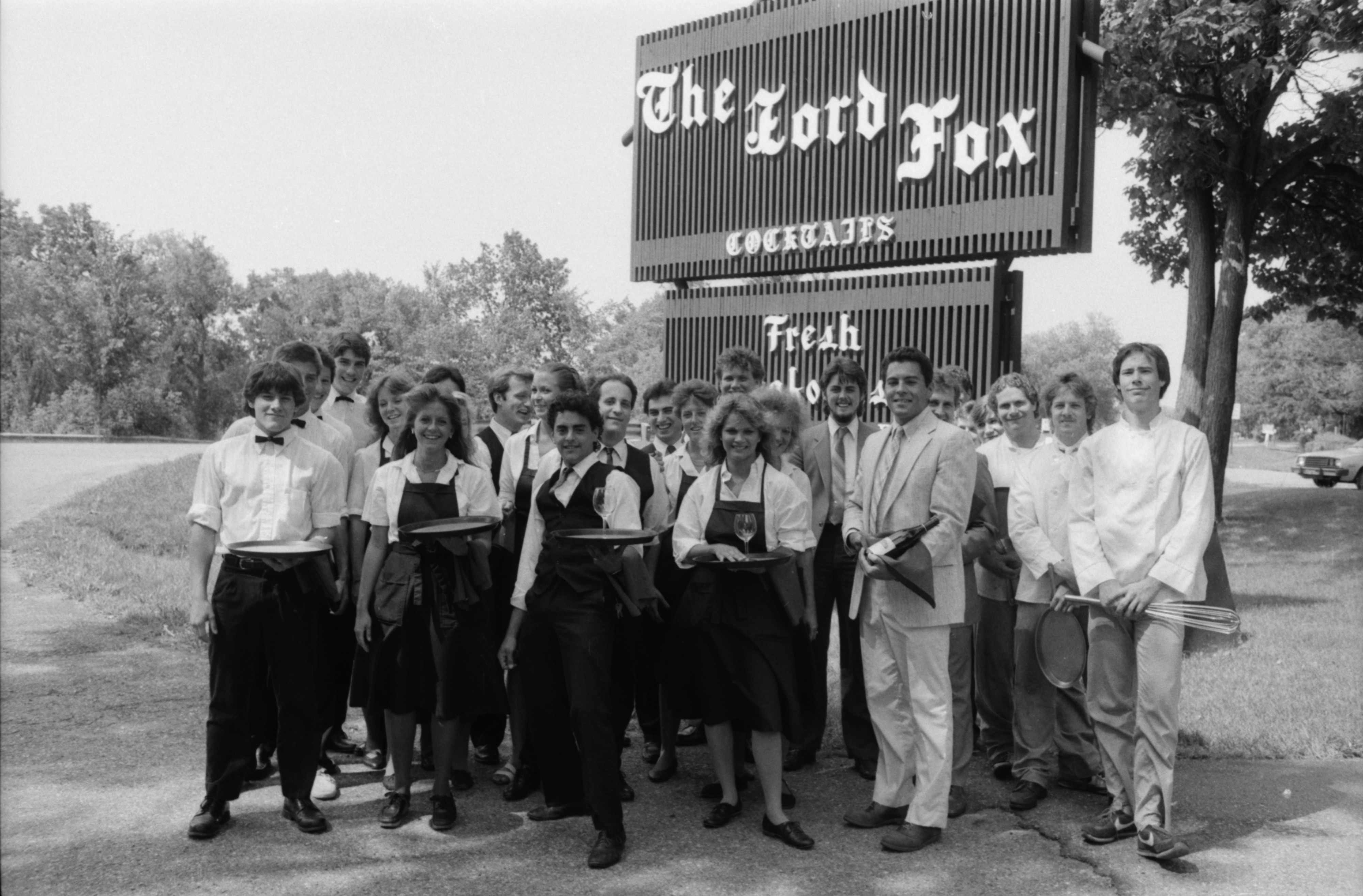 Staff of The Lord Fox Poses Outside, 1986 image