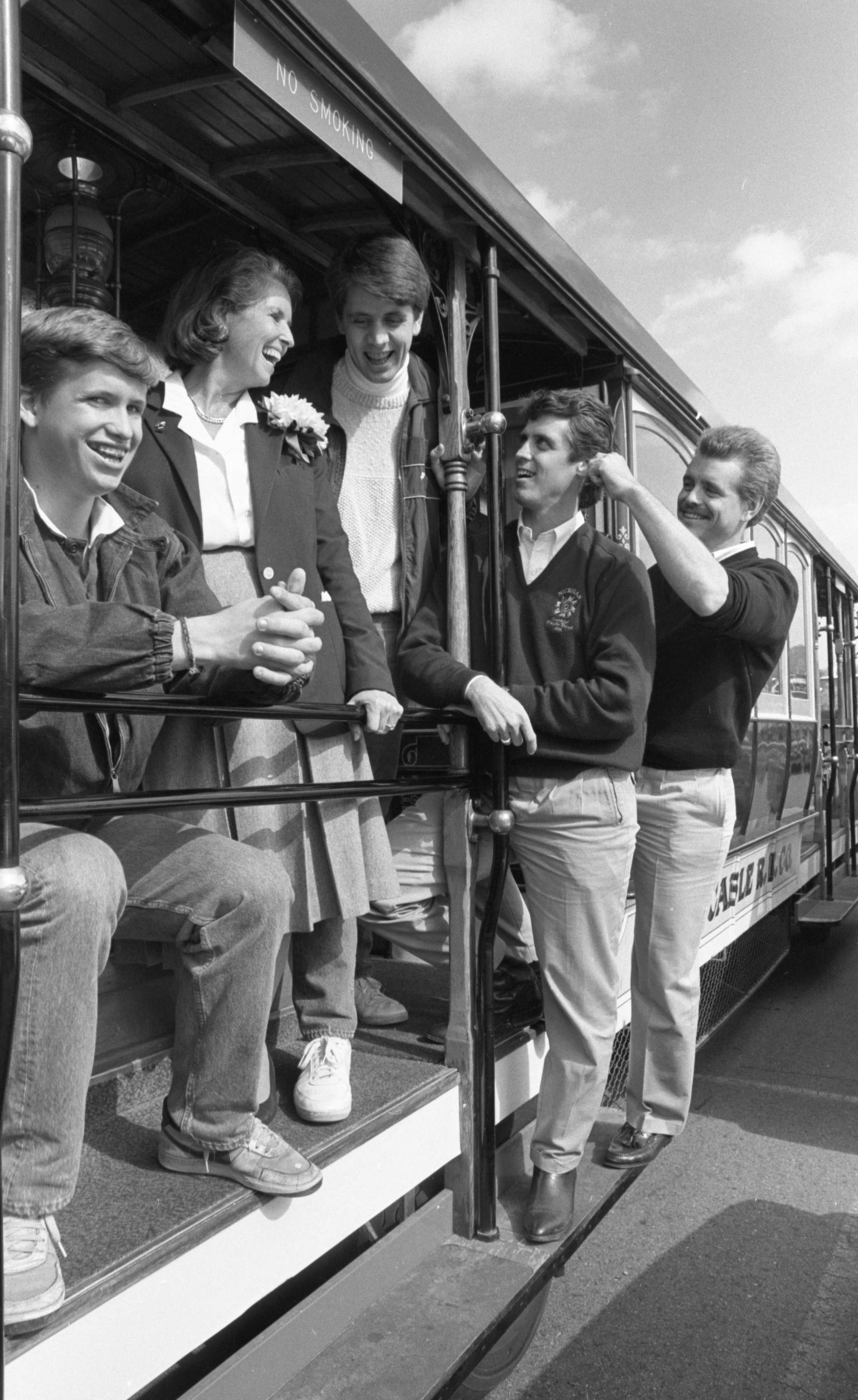 The Schembechler Family On A Cable Car, October 1986 image