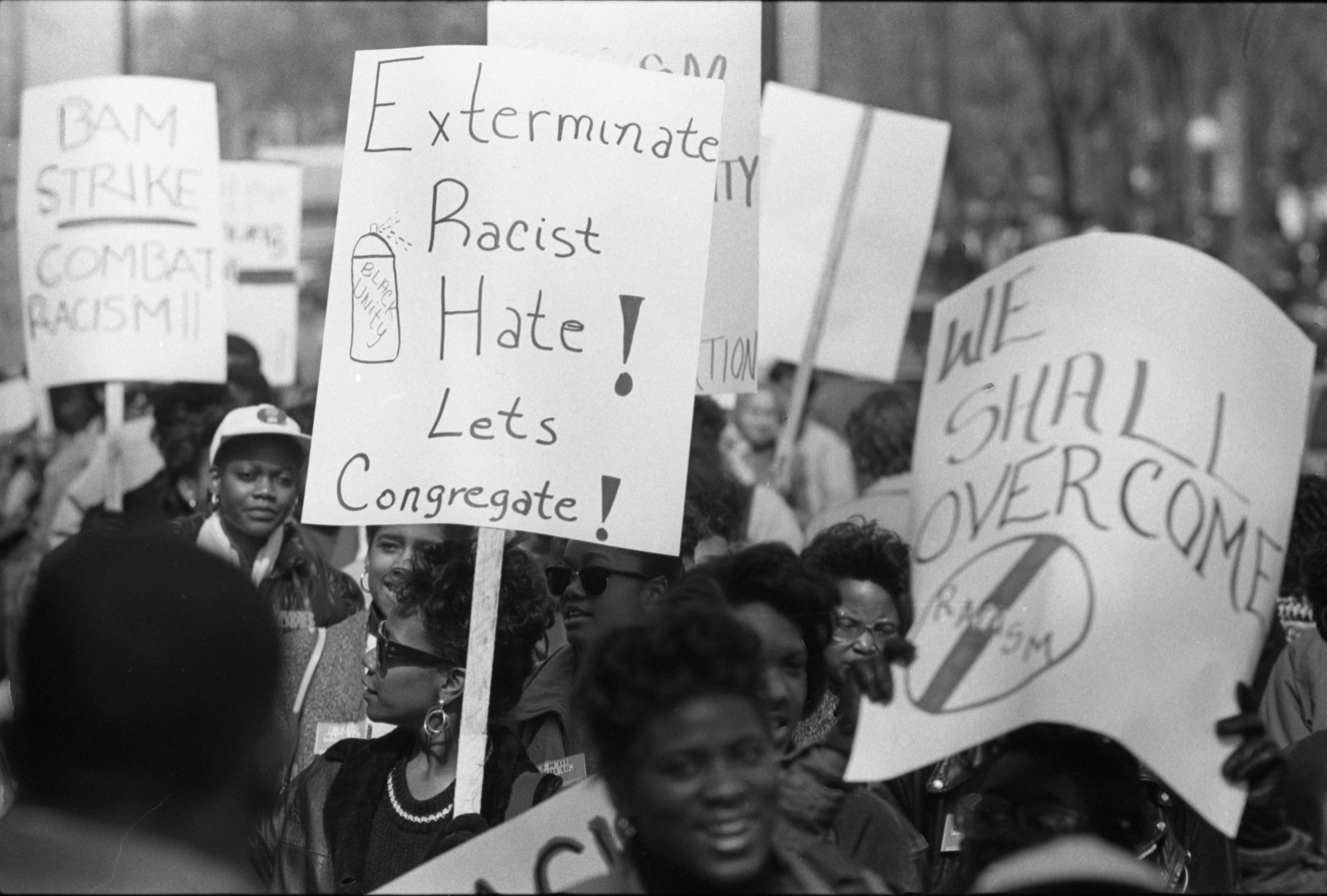 Image from Black Action Movement III March Against Racism, March 19, 1987