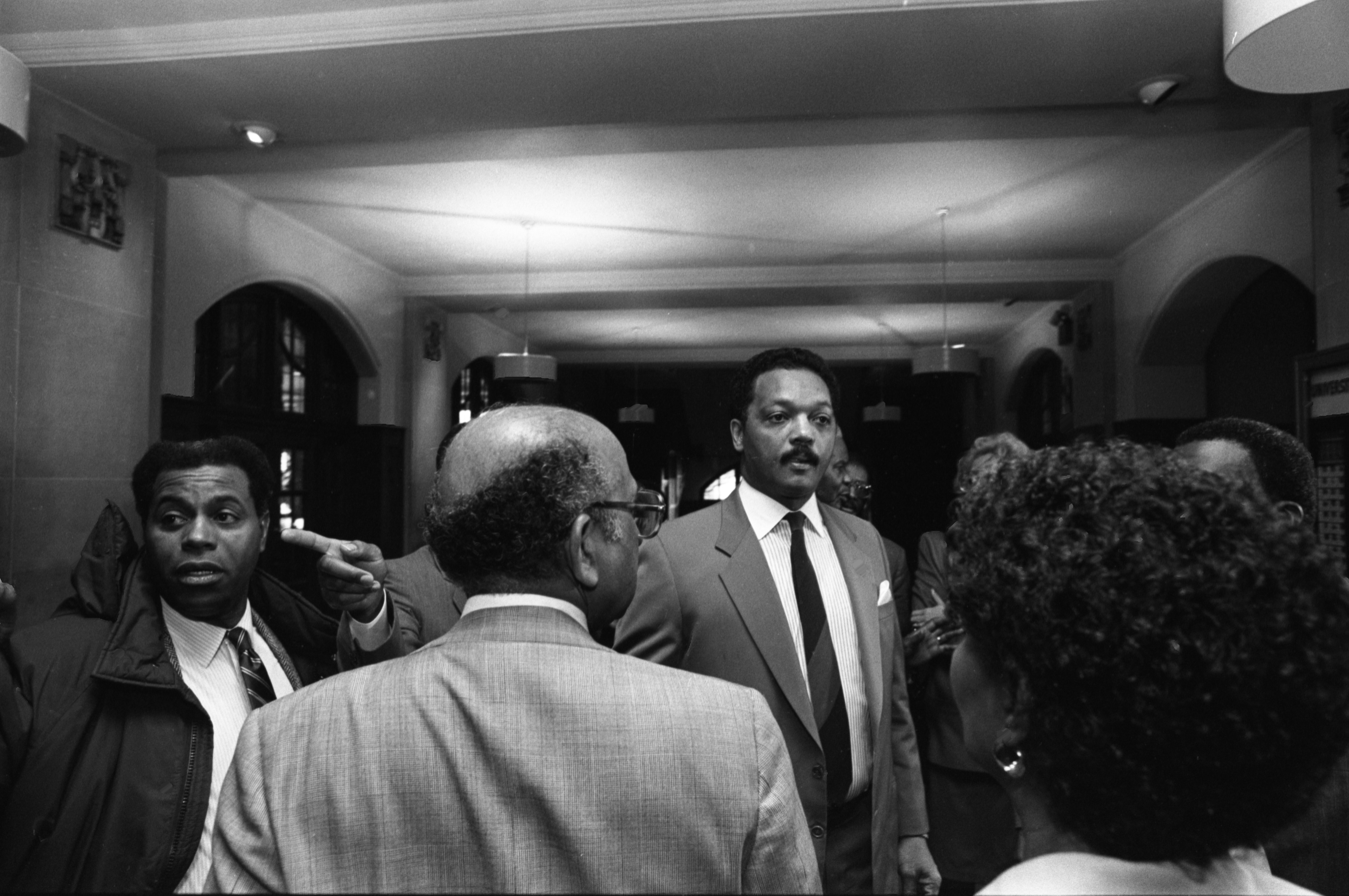 Rev. Jesse Jackson In Ann Arbor For Meeting With Black Action Movement Members, March 23, 1987 image